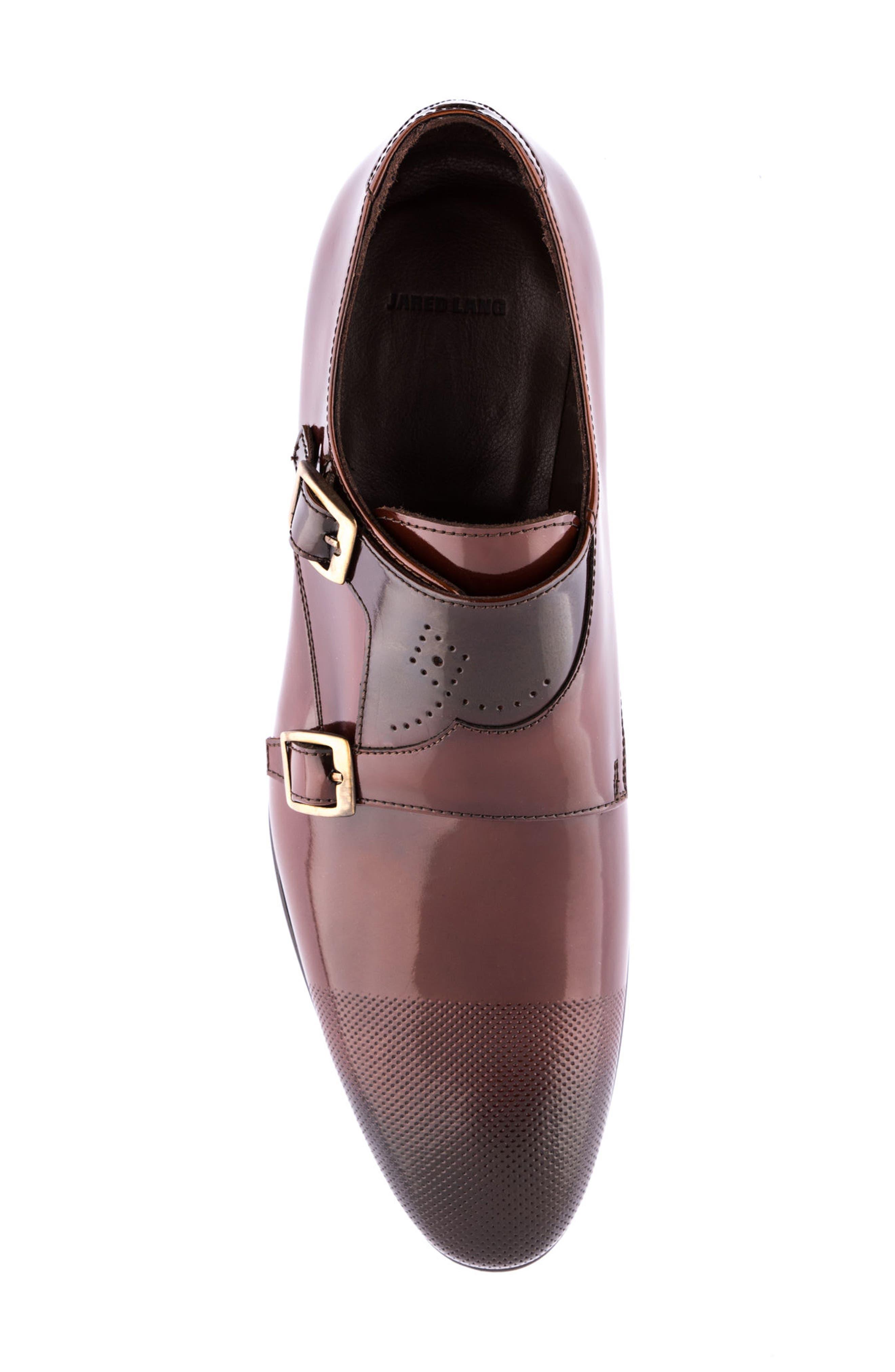 Martin Double Monk Strap Shoe,                             Alternate thumbnail 5, color,                             Brown