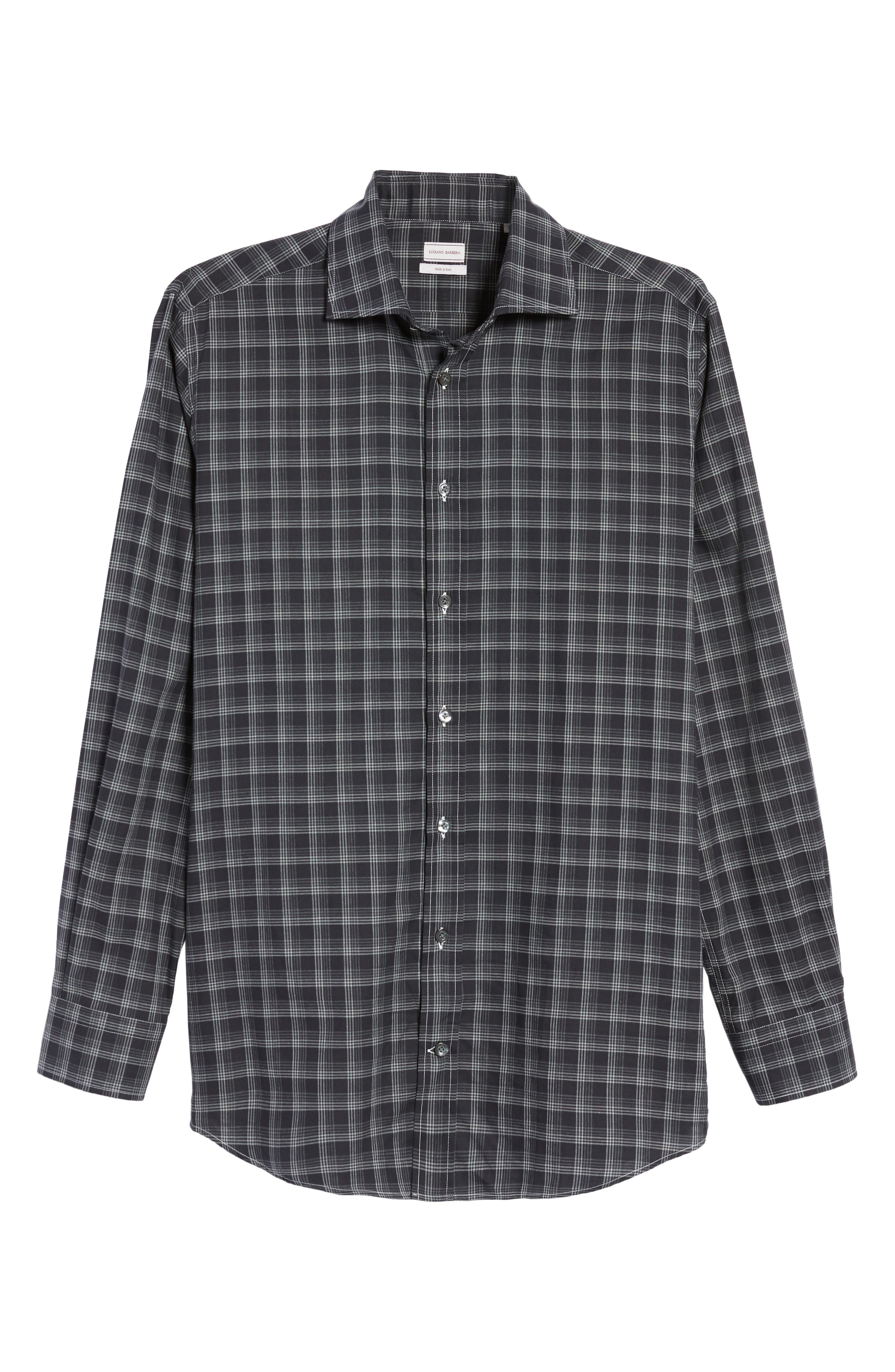 Alternate Image 6  - Luciano Barbera Classic Fit Plaid Sport Shirt