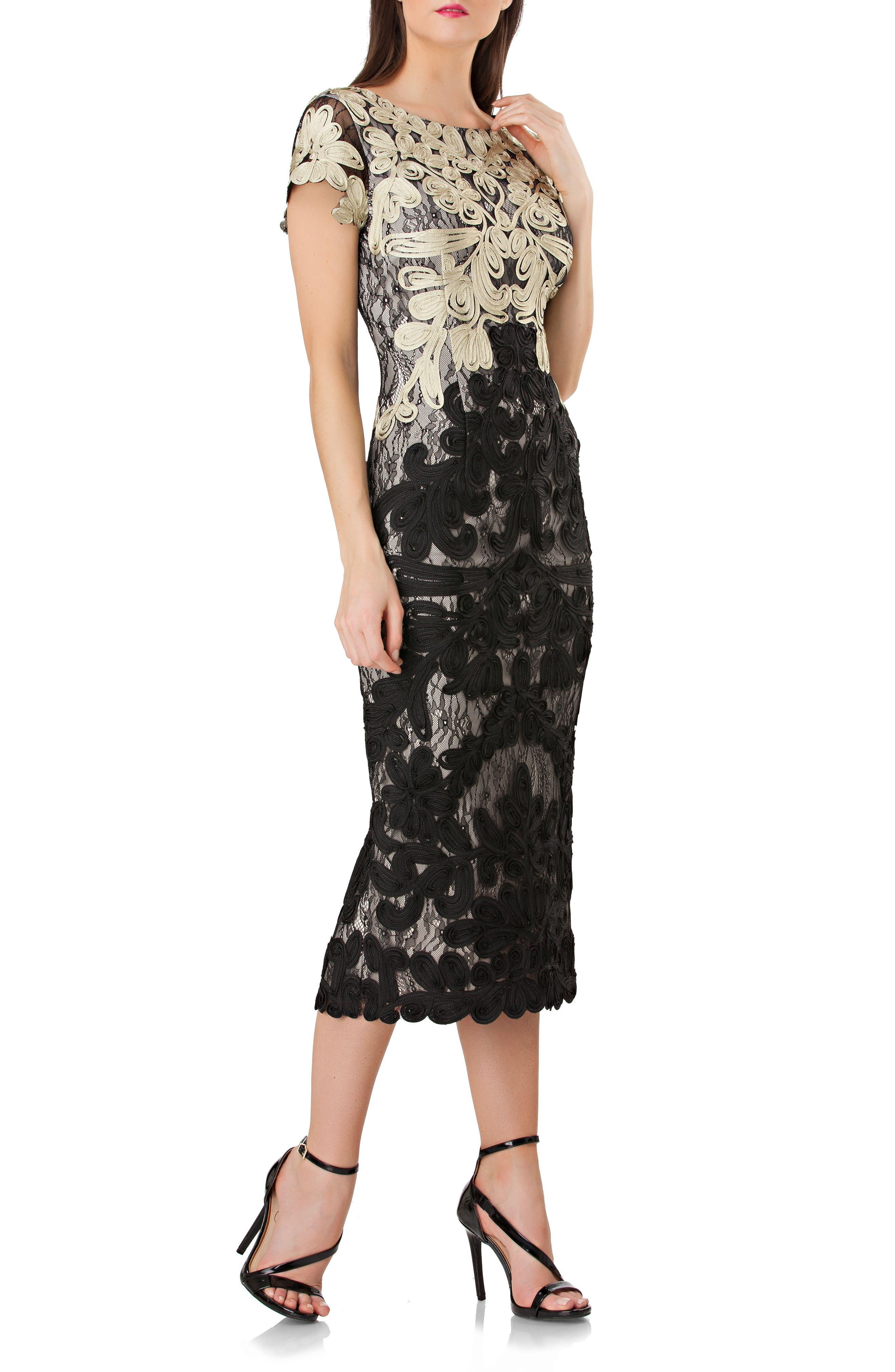 Copper Knee Length Dresses