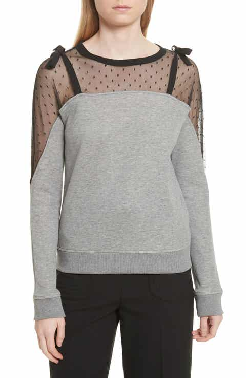 RED Valentino Point D'esprit Sweatshirt