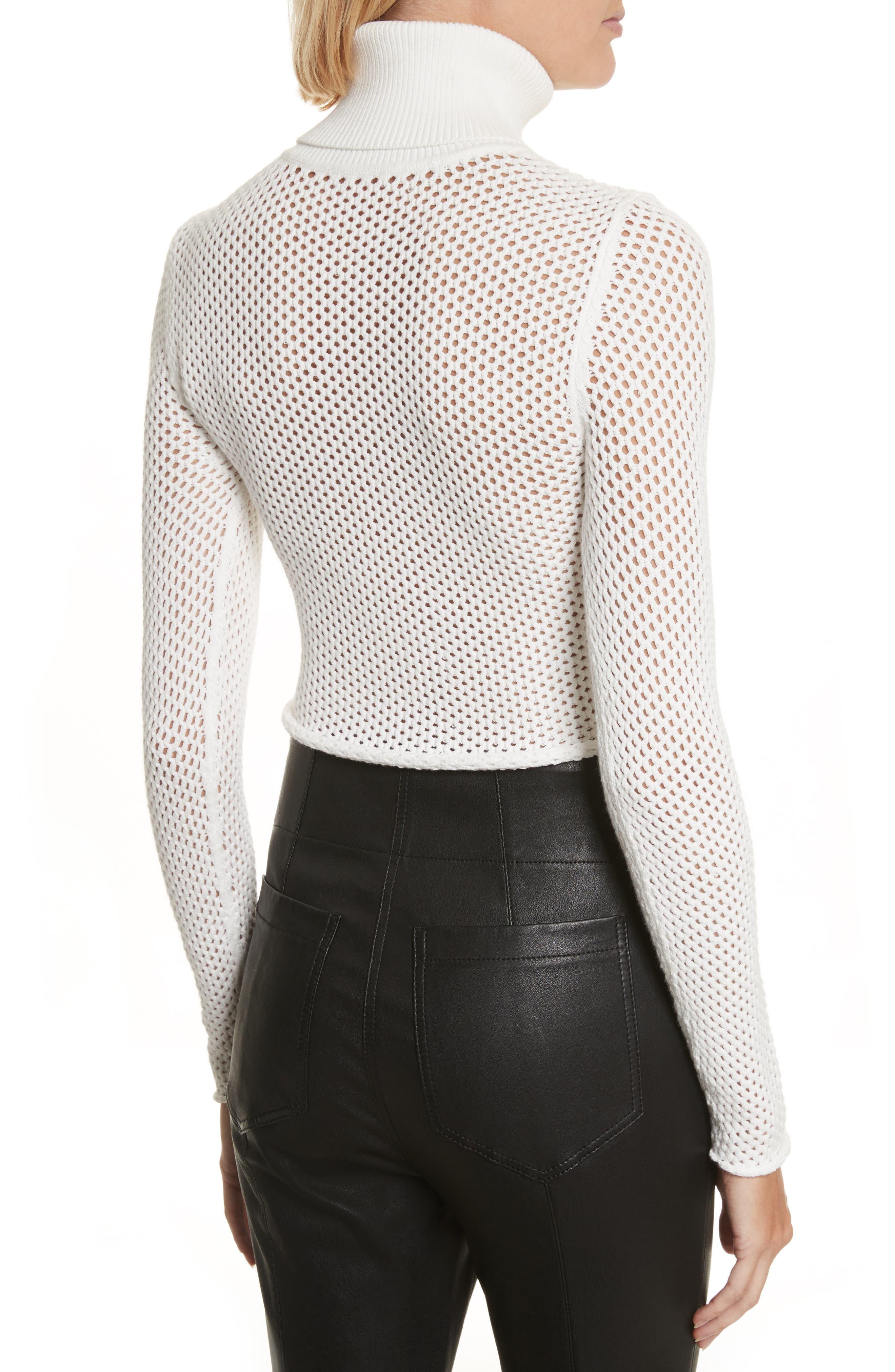 Jones Fishnet Sweater,                             Alternate thumbnail 2, color,                             White