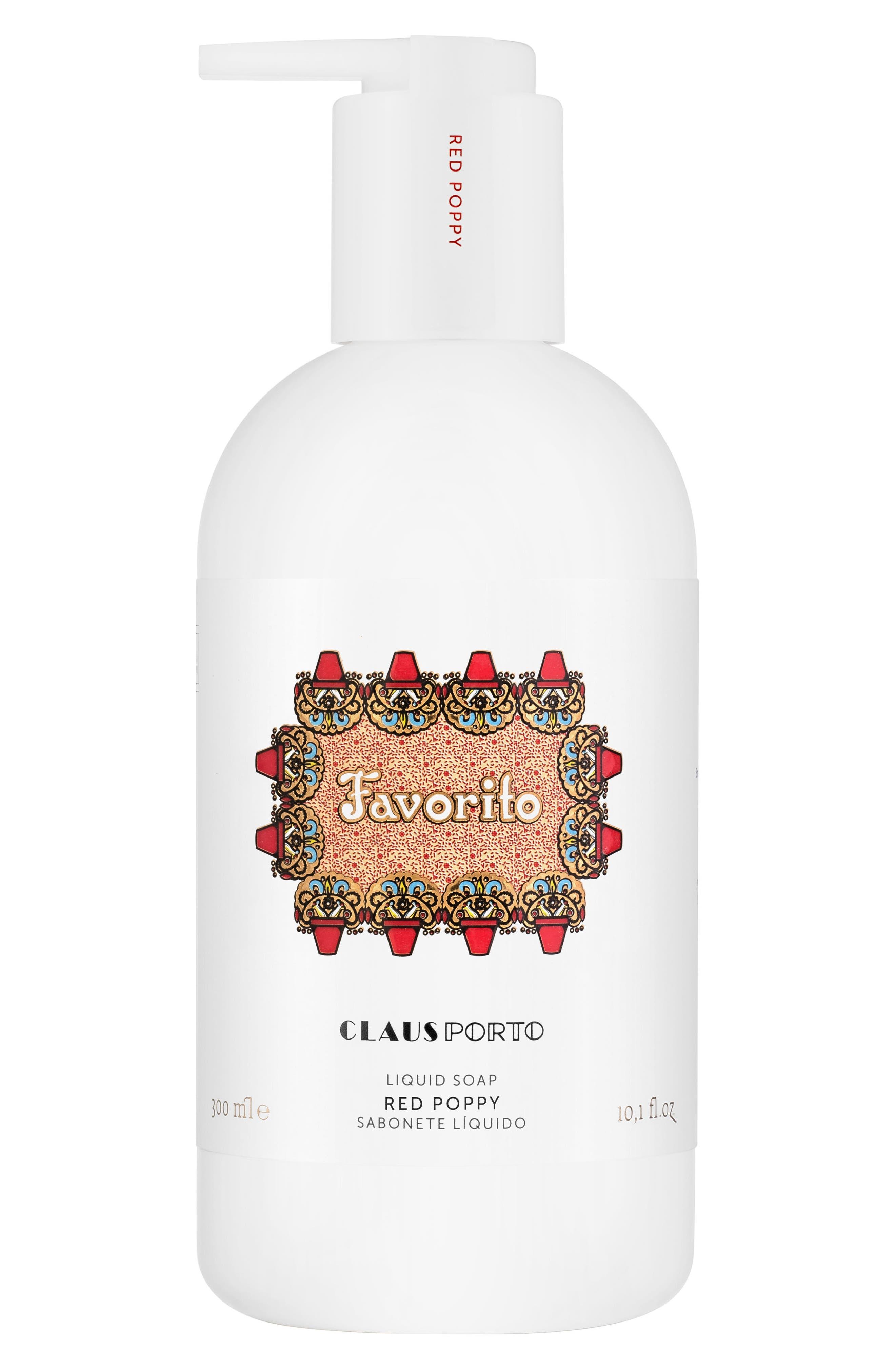 Claus Porto Favorito Red Poppy Liquid Soap