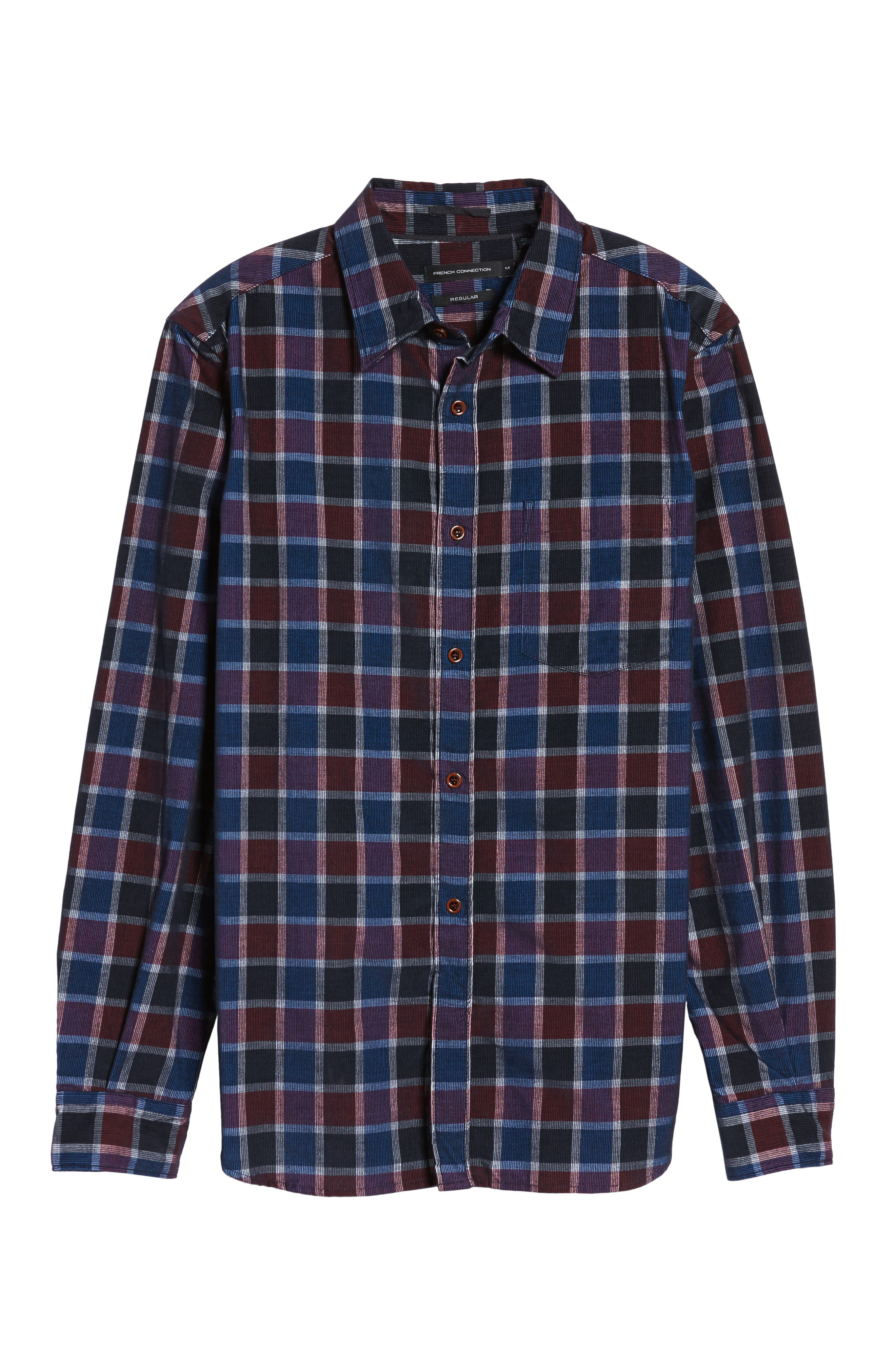 Alternate Image 6  - French Connection Plaid Corduroy Sport Shirt