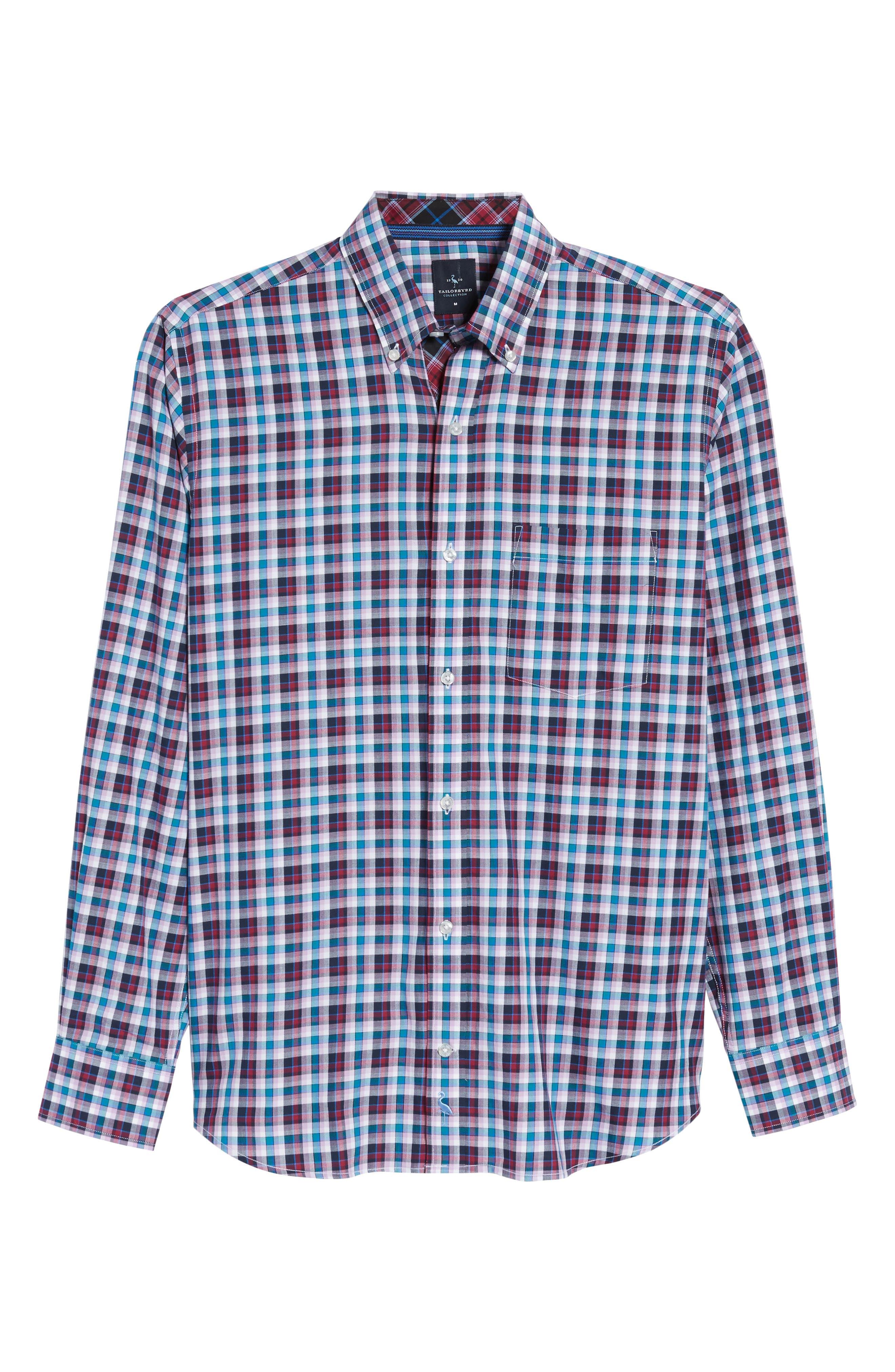 Alternate Image 6  - TailorByrd Coushatta Plaid Sport Shirt