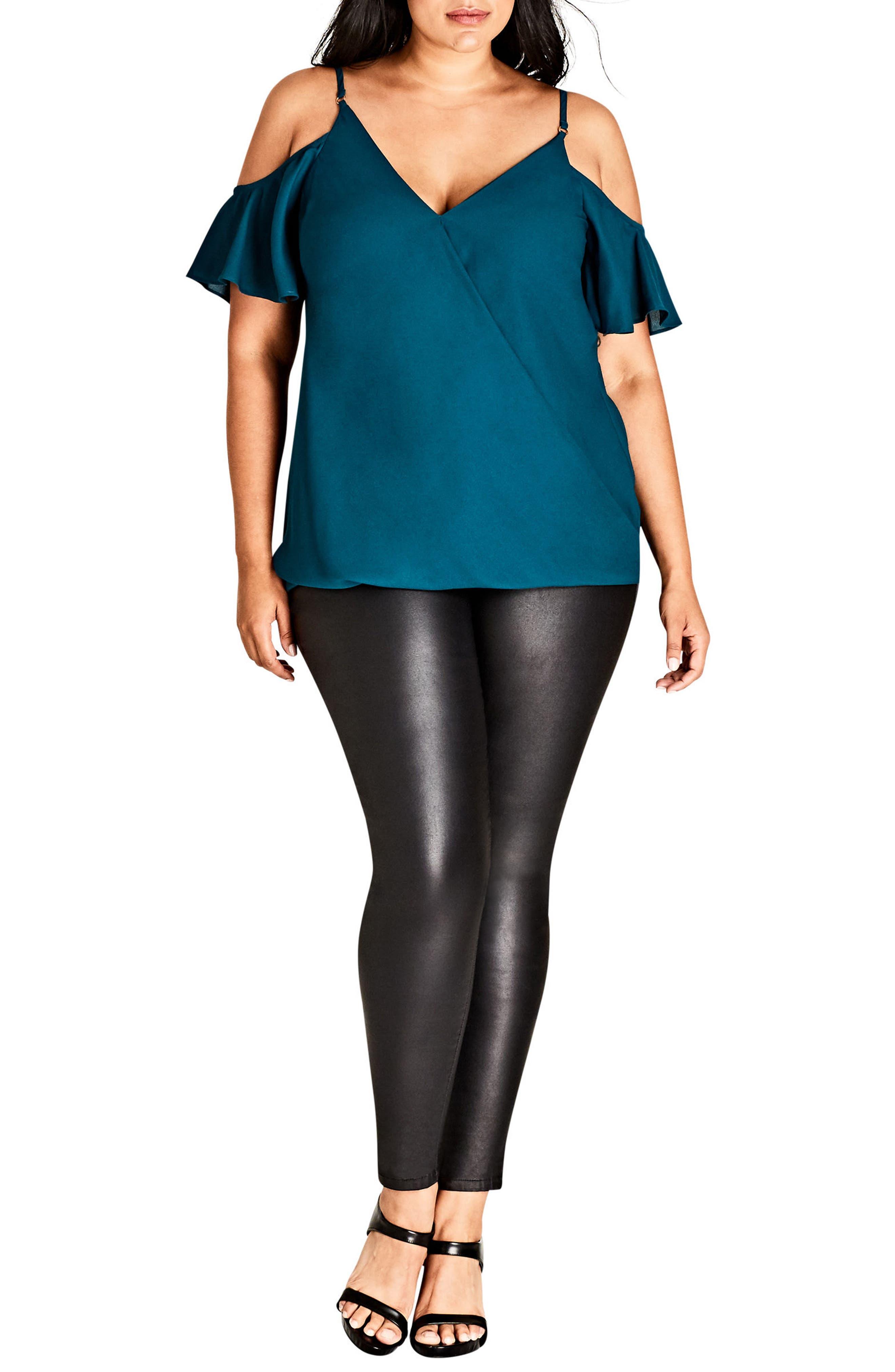 Simple Elegance Top,                         Main,                         color, Emerald