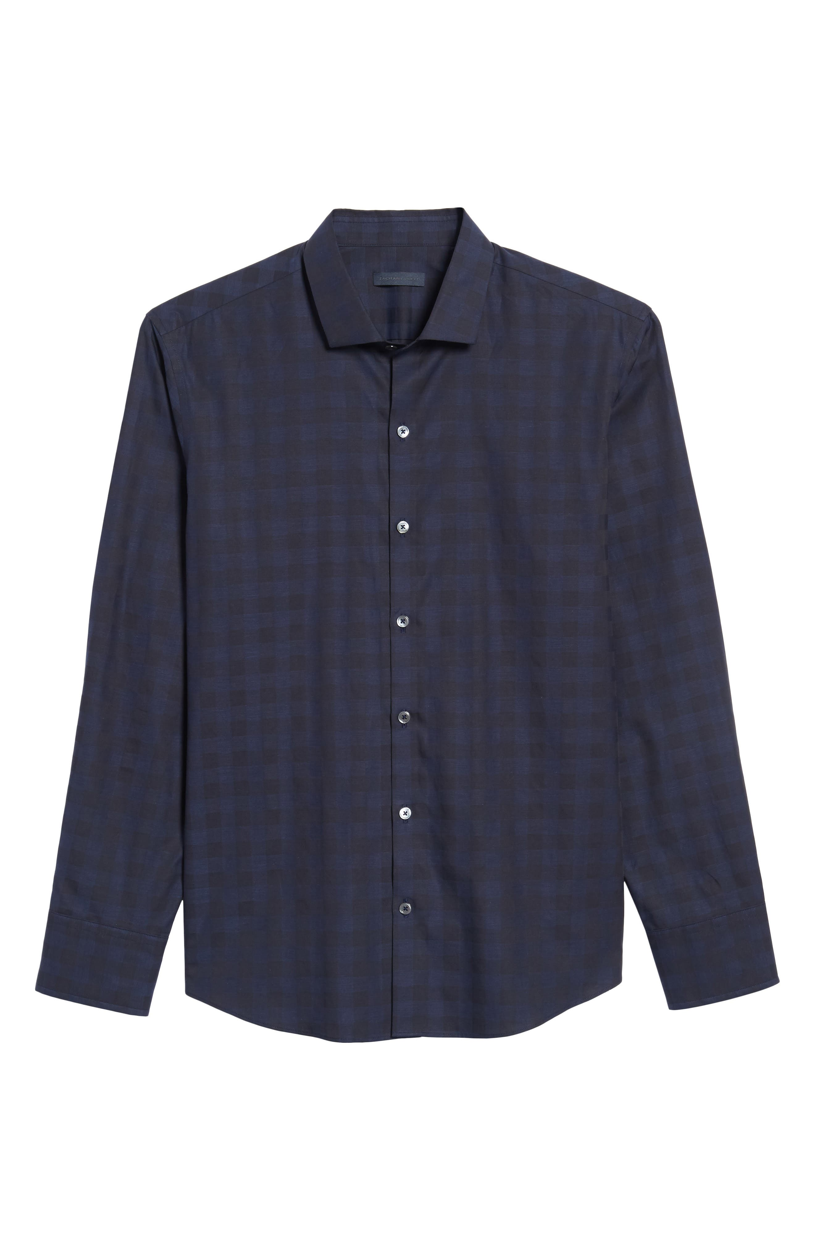 Torres Check Sport Shirt,                             Alternate thumbnail 6, color,                             Navy