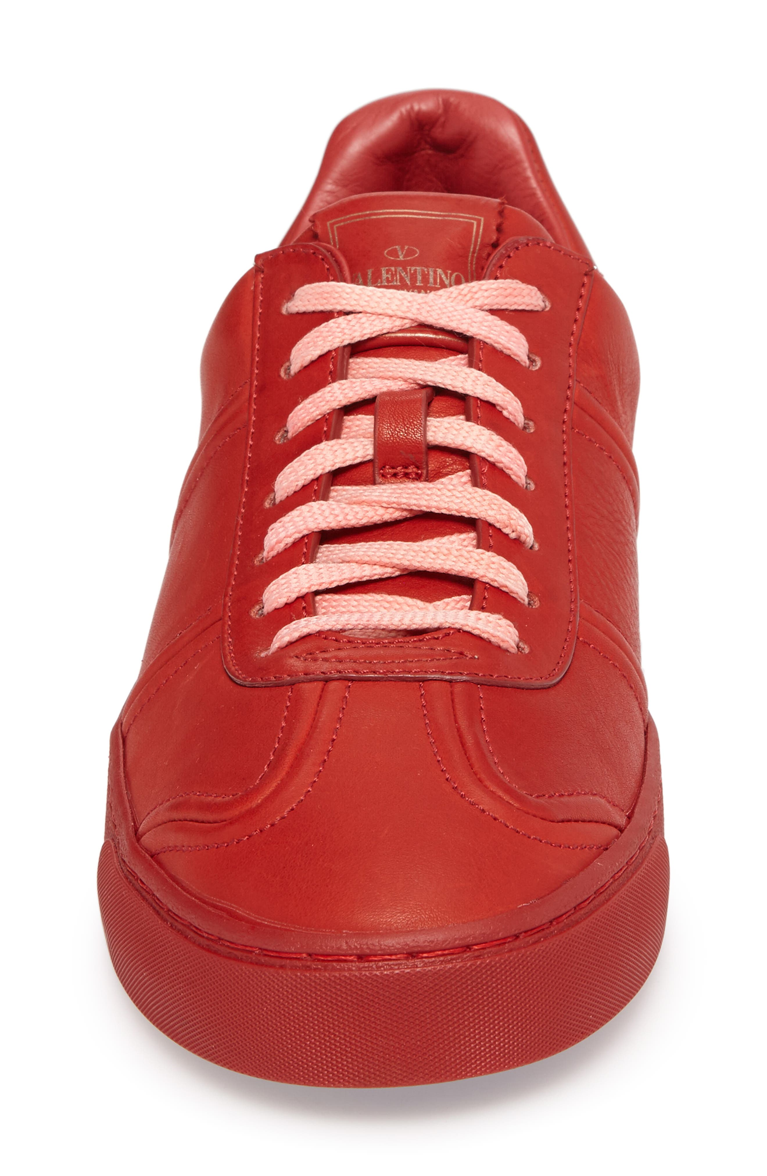Fly Crew Sneaker,                             Alternate thumbnail 4, color,                             Rosso