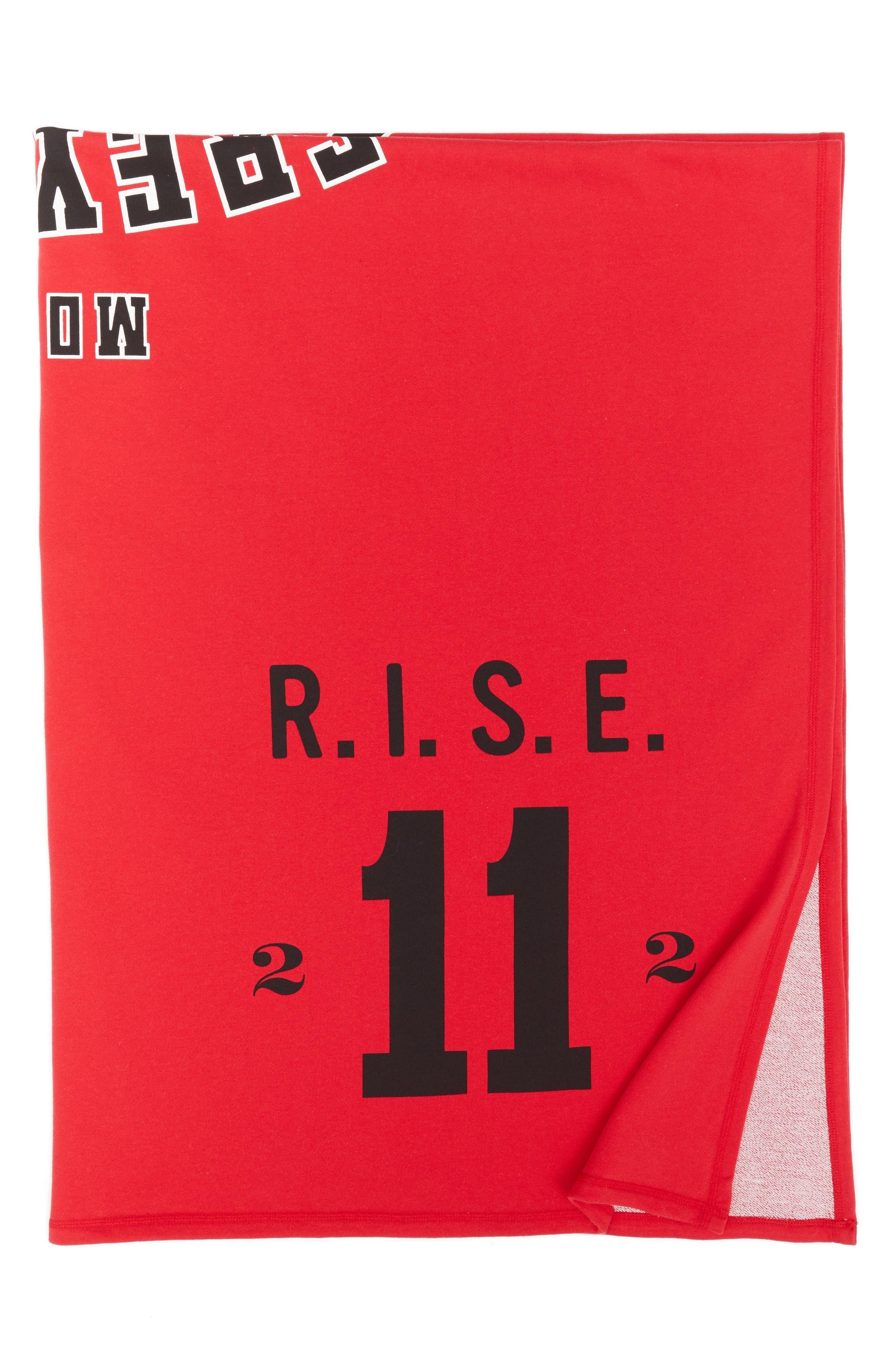 Calvin Klein Mount Greylock Throw,                             Alternate thumbnail 3, color,                             Red