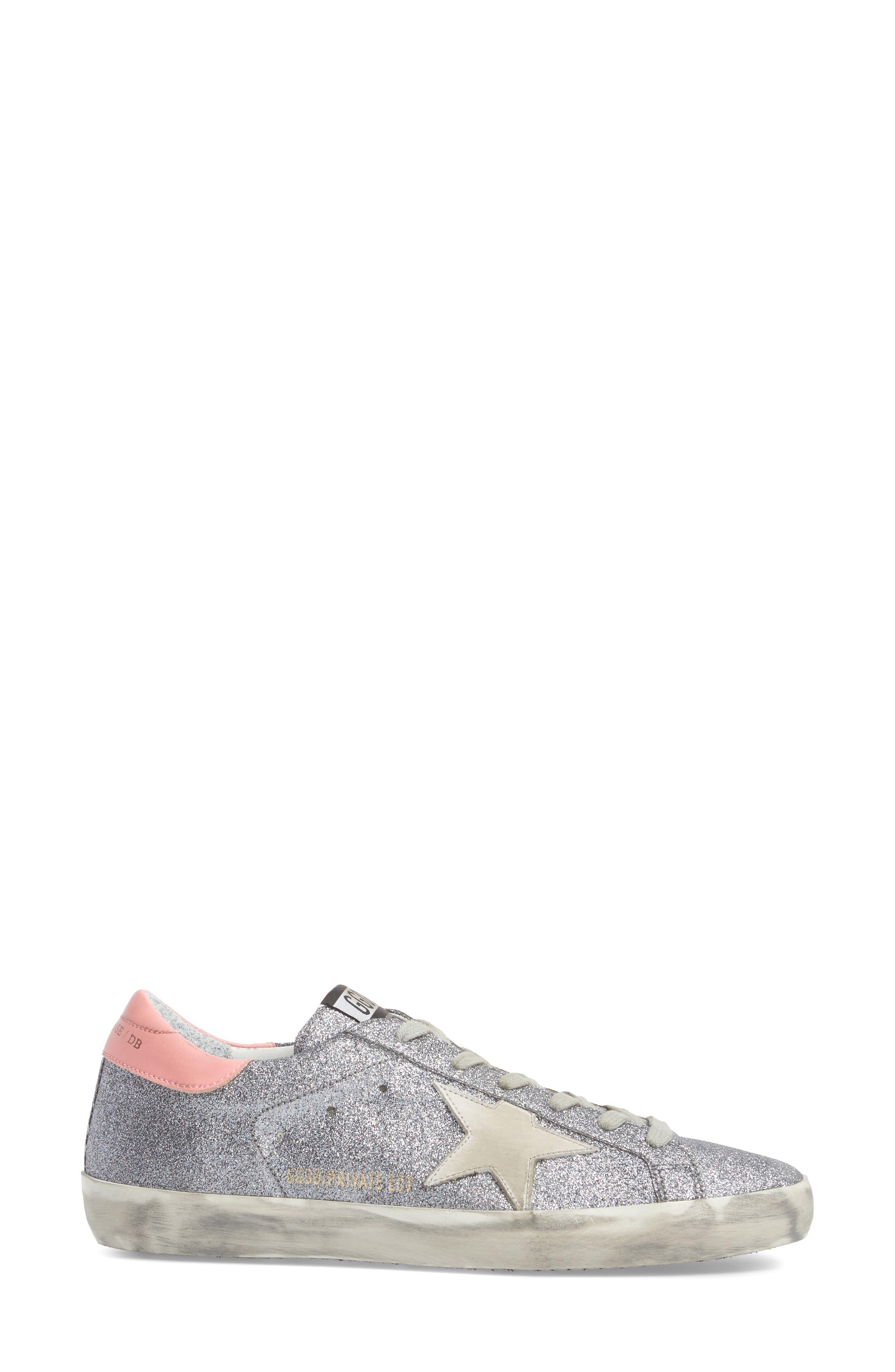 Superstar Low Top Sneaker,                             Alternate thumbnail 3, color,                             Gunmetal/ White