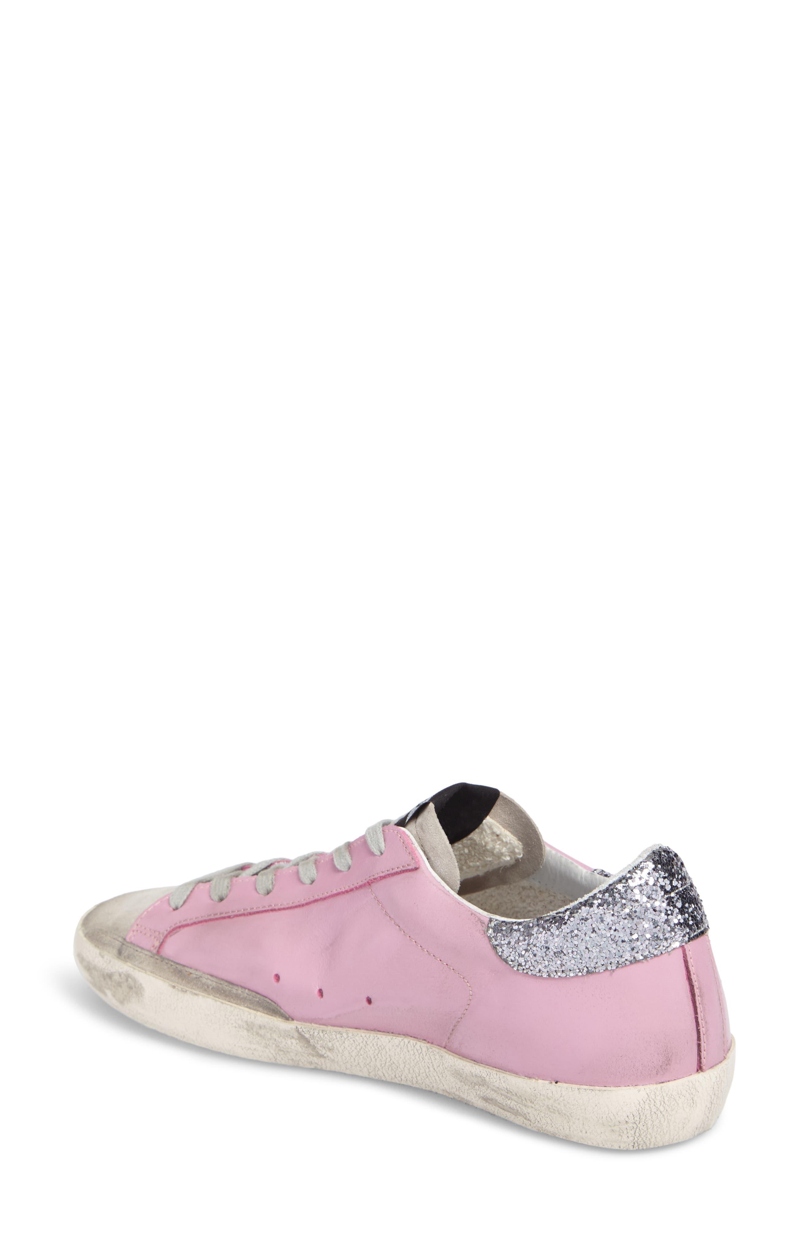 Superstar Low Top Sneaker,                             Alternate thumbnail 2, color,                             Pink/ Grey