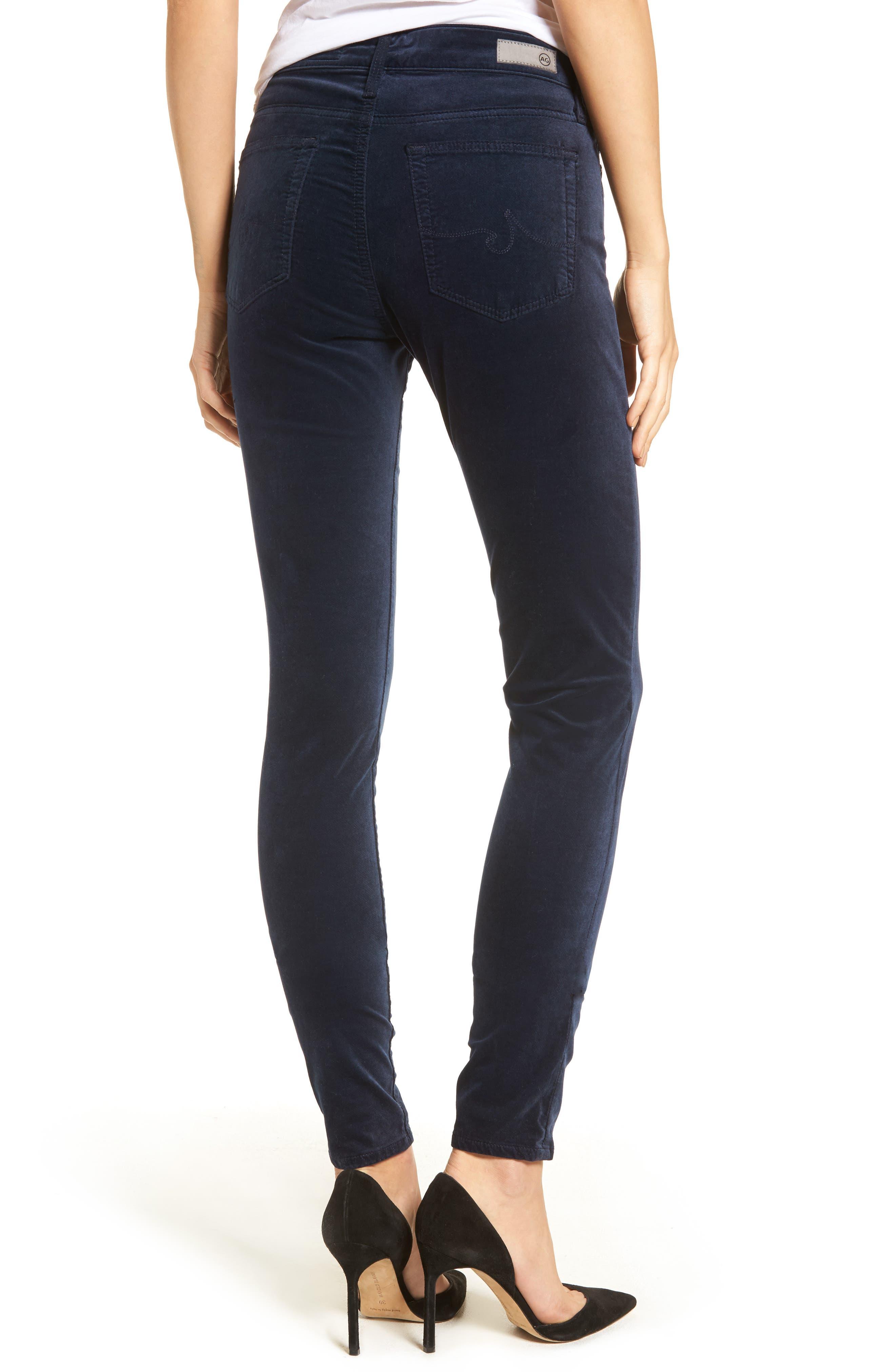 Alternate Image 2  - AG The Farrah High Waist Velvet Jeans