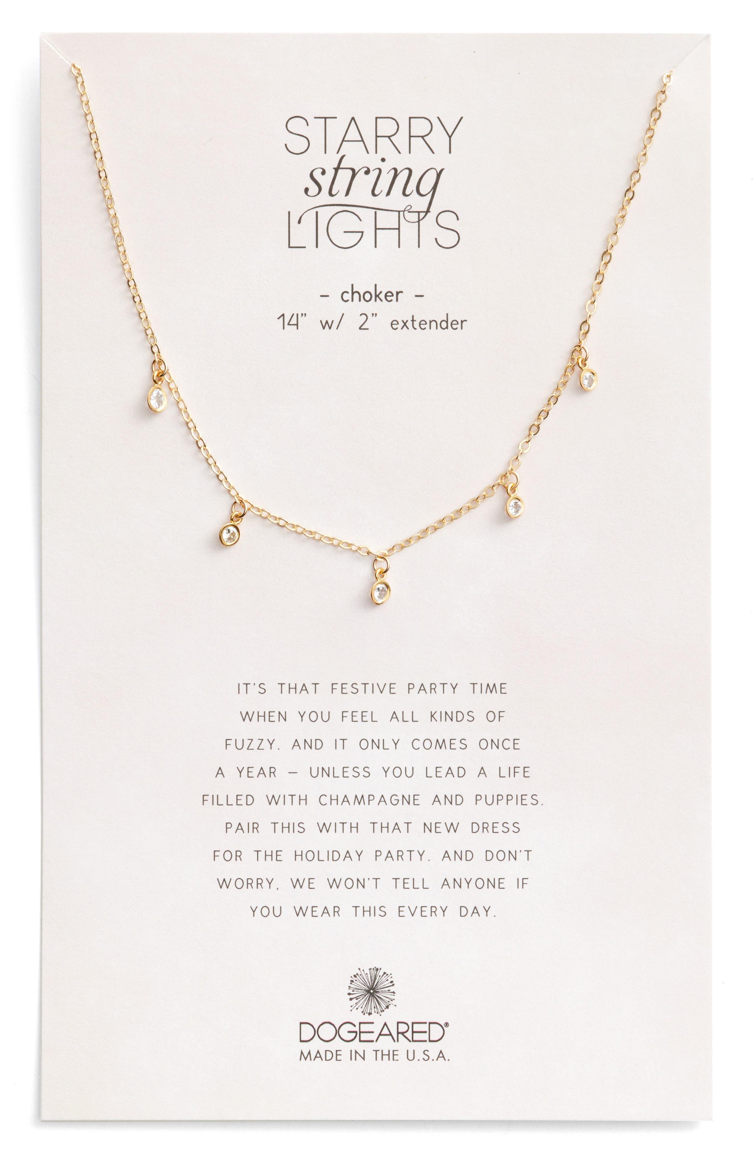 Dogeared Starry String Lights Choker Necklace