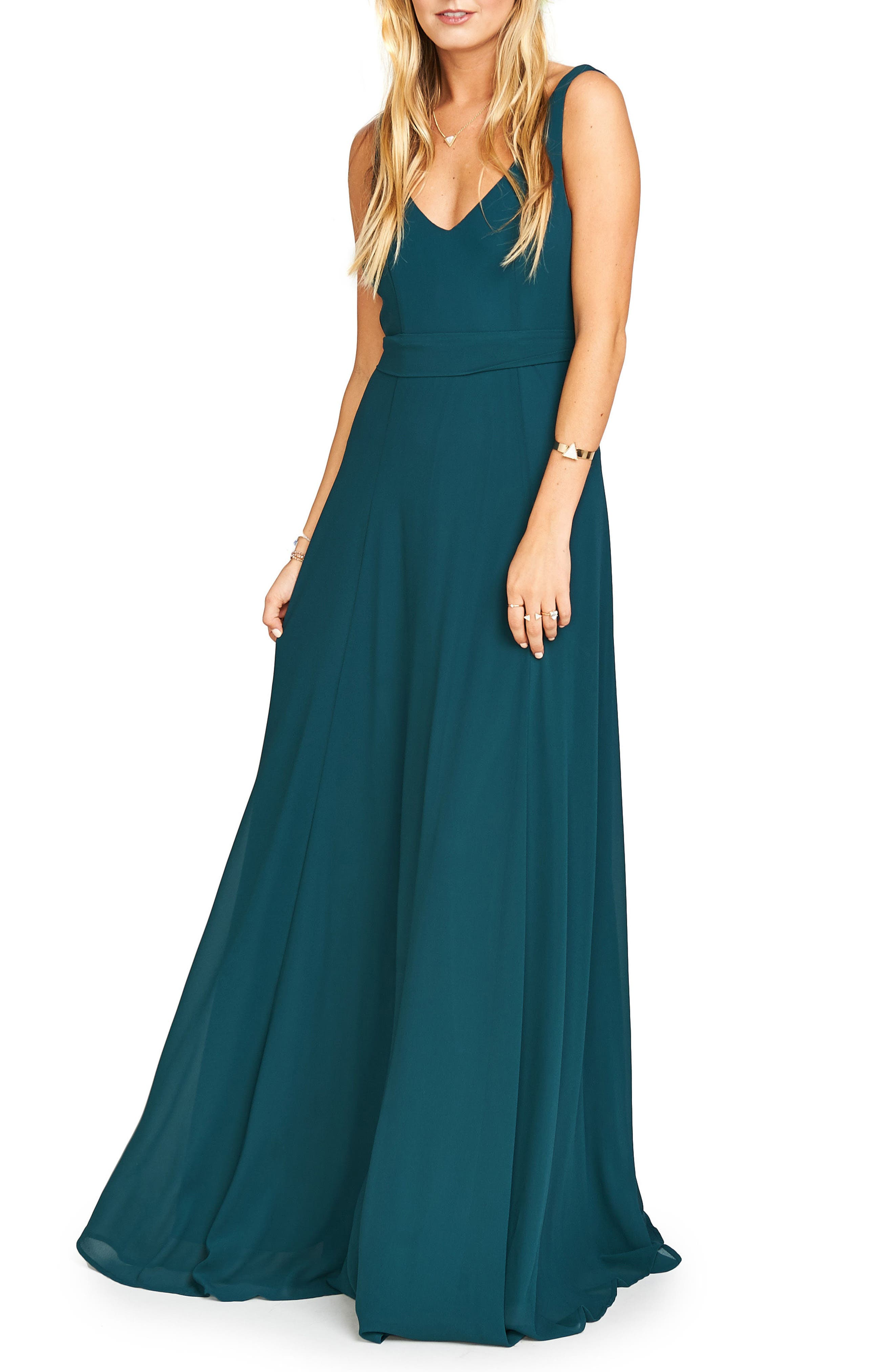 Blue Dress with Green