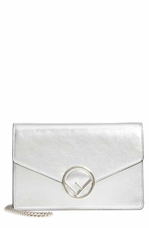 Fendi Liberty Logo Calfskin Leather Wallet on a Chain c95778e16854c