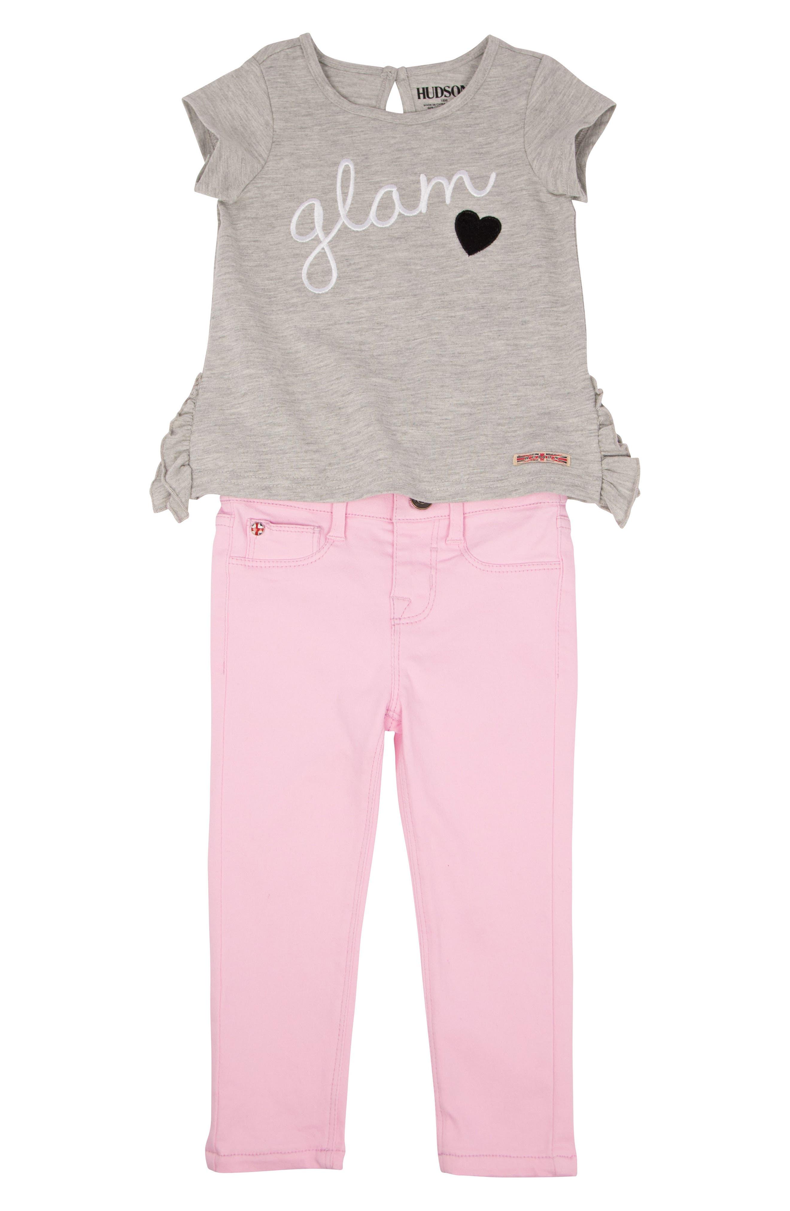 Hudson Kids Tee & Jeans Set (Baby Girls)