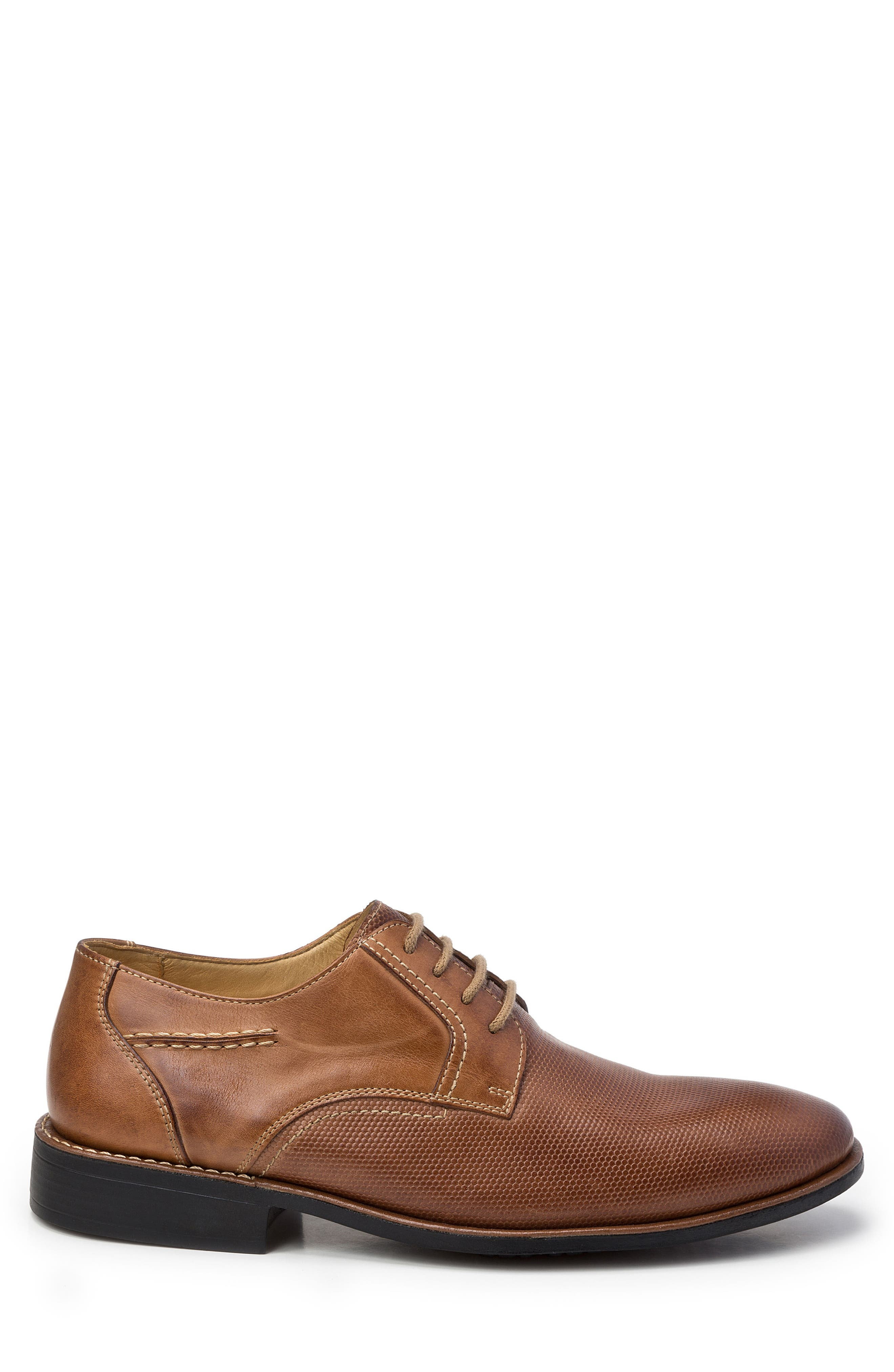 Trenso Plain Toe Derby,                             Alternate thumbnail 3, color,                             Tan Leather