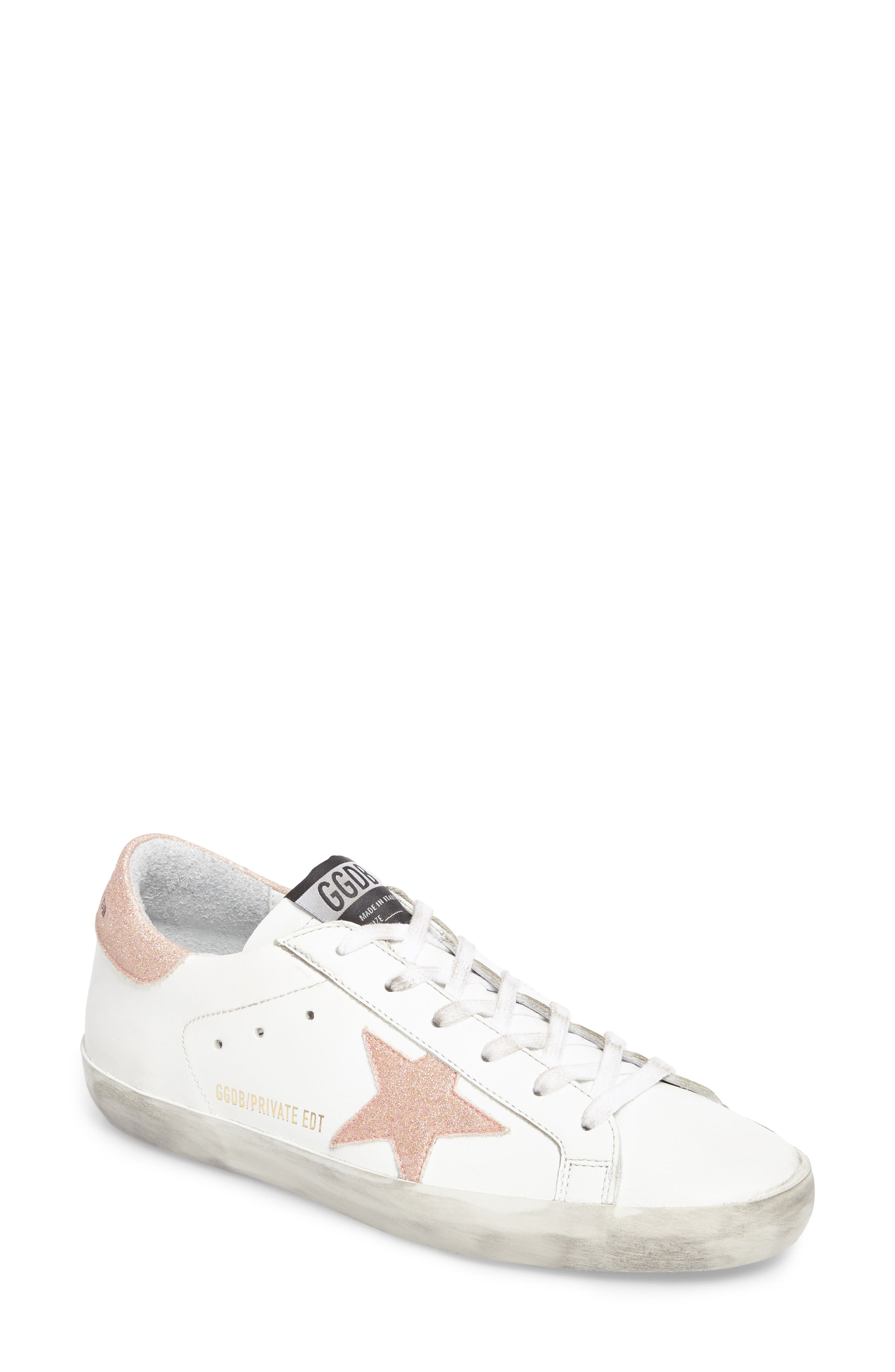 Superstar Low Top Sneaker,                         Main,                         color, White/ Peach