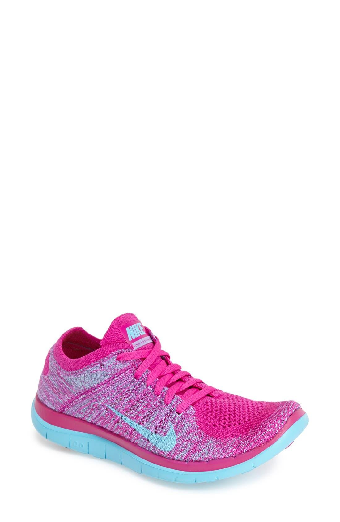 Alternate Image 1 Selected - Nike 'Free 4.0 Flyknit' Running Shoe (Women)