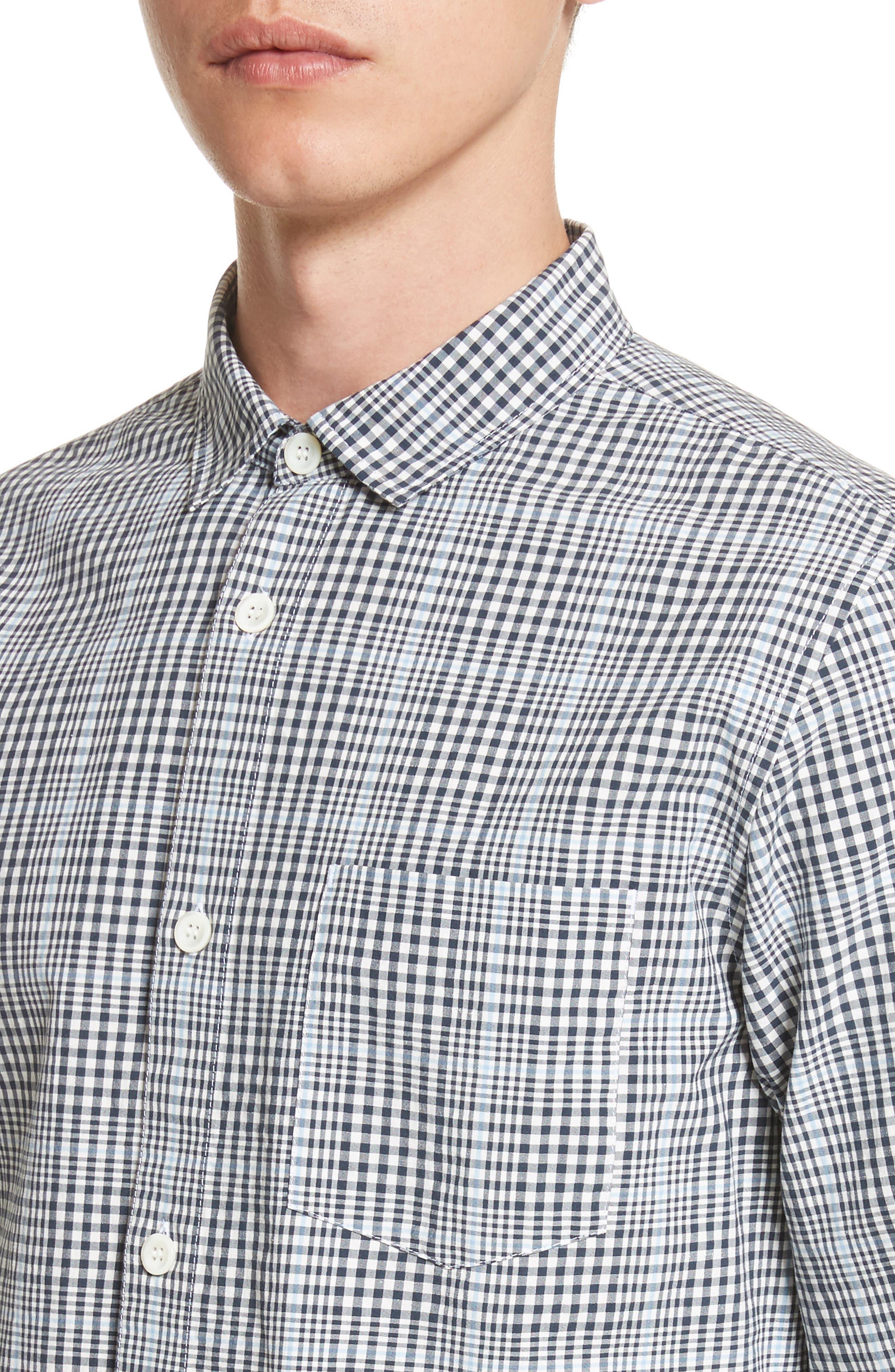 Alternate Image 4  - A.P.C. John Check Woven Shirt