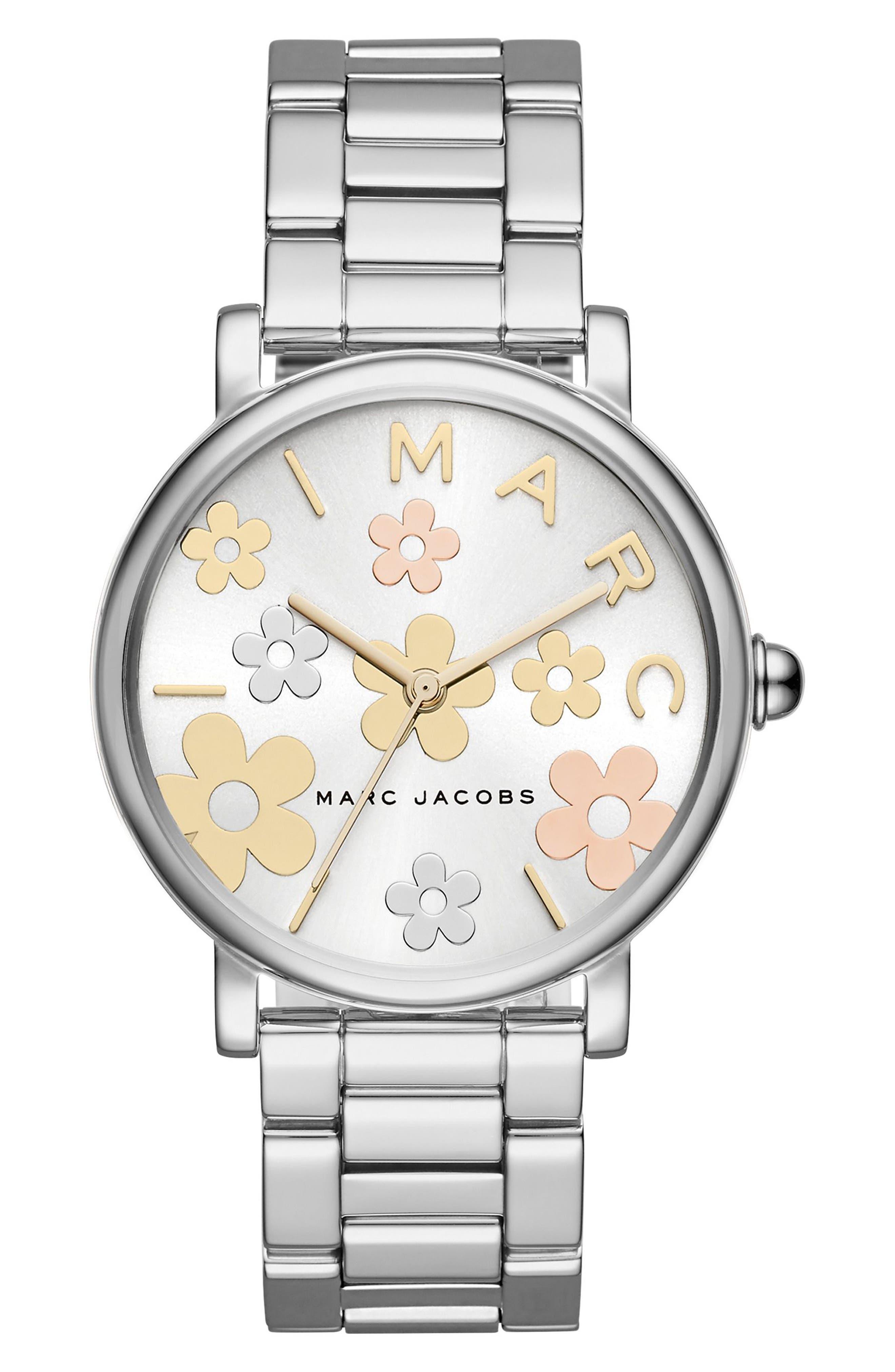Classic Bracelet Watch, 36mm,                             Main thumbnail 1, color,                             Silver/ White/ Silver