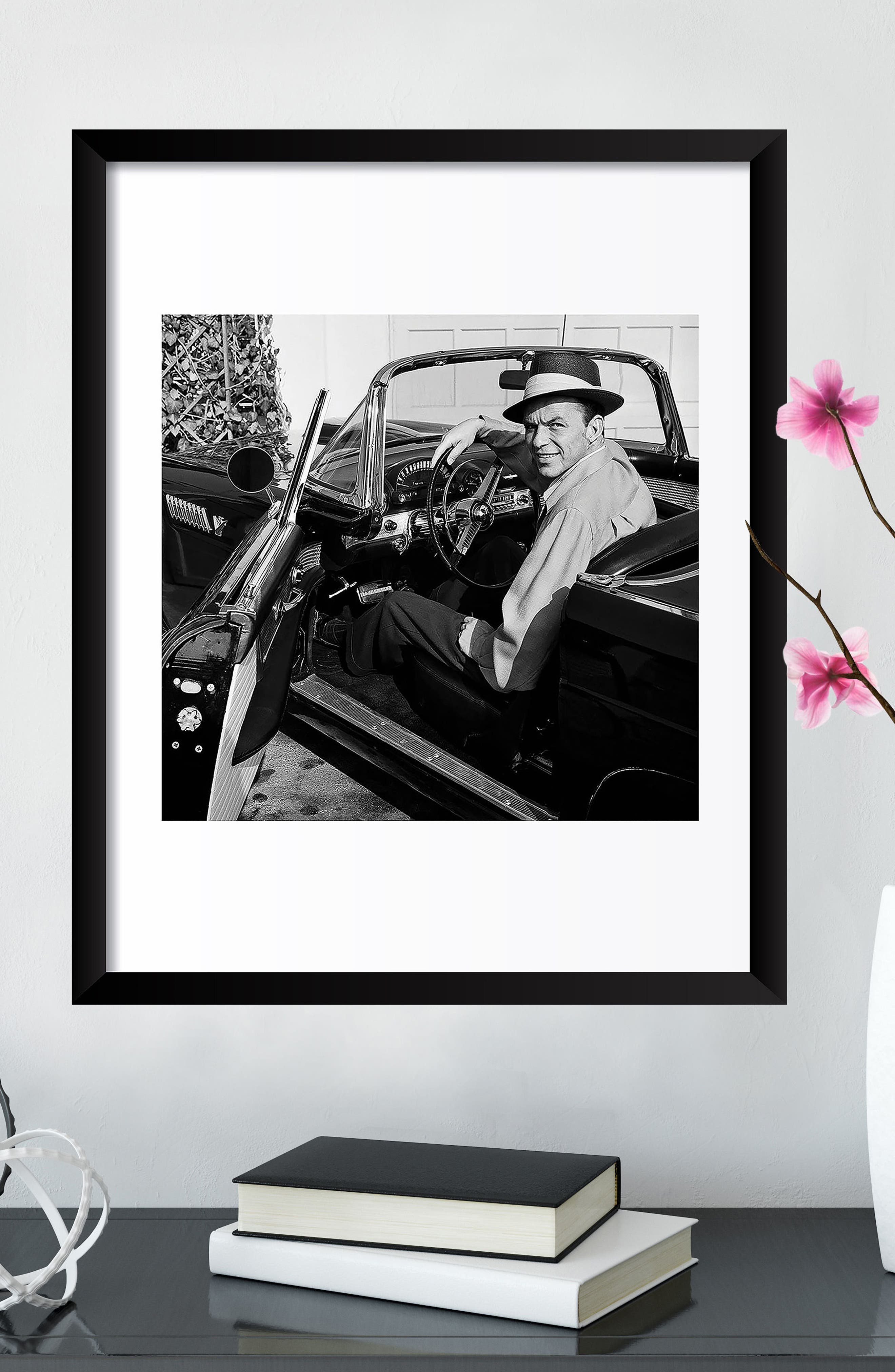 Frank Sinatra Fine Art Print,                             Alternate thumbnail 2, color,                             Black