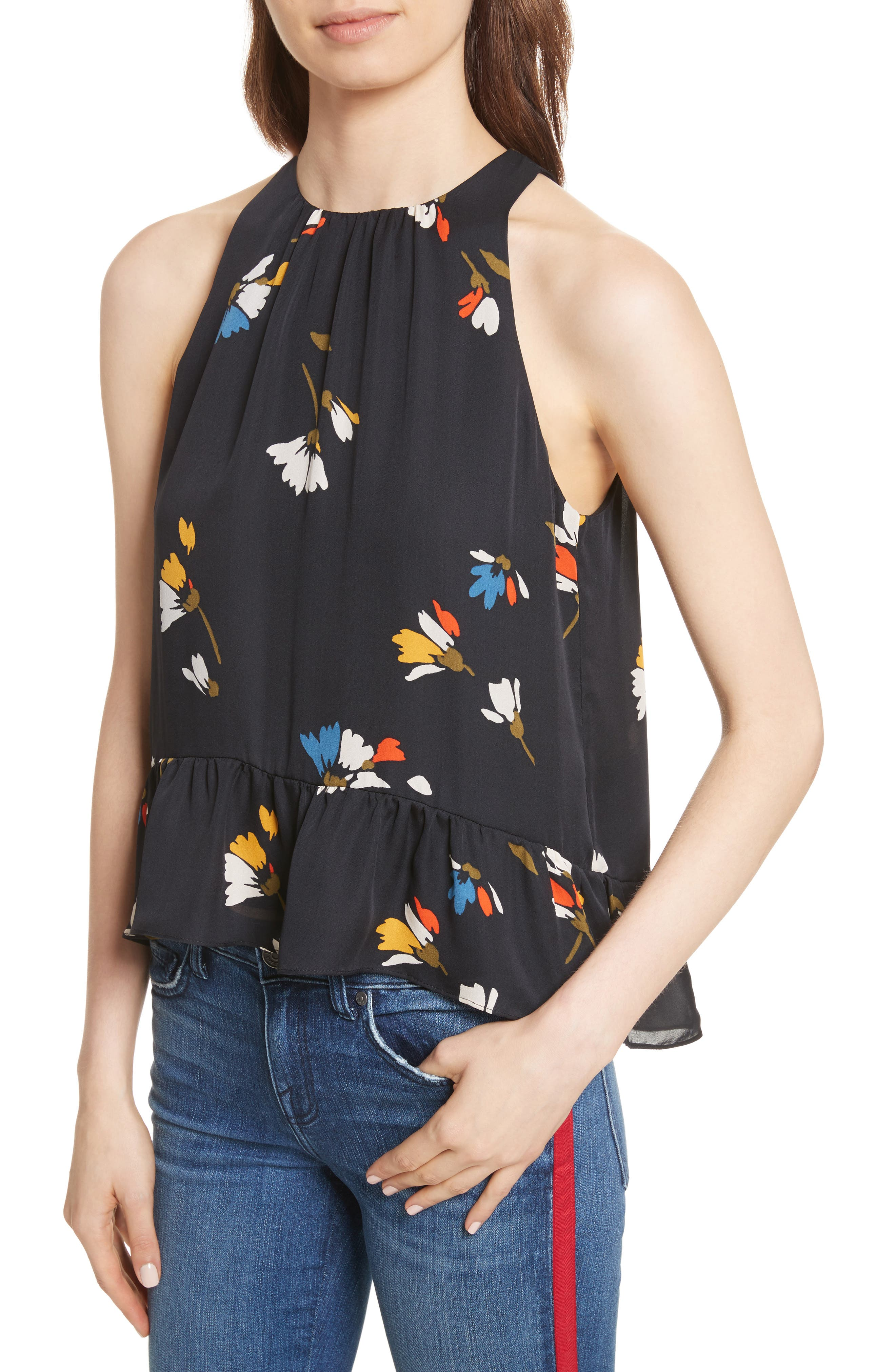 Alternate Image 4  - Joie Ayame Sleeveless Silk Top