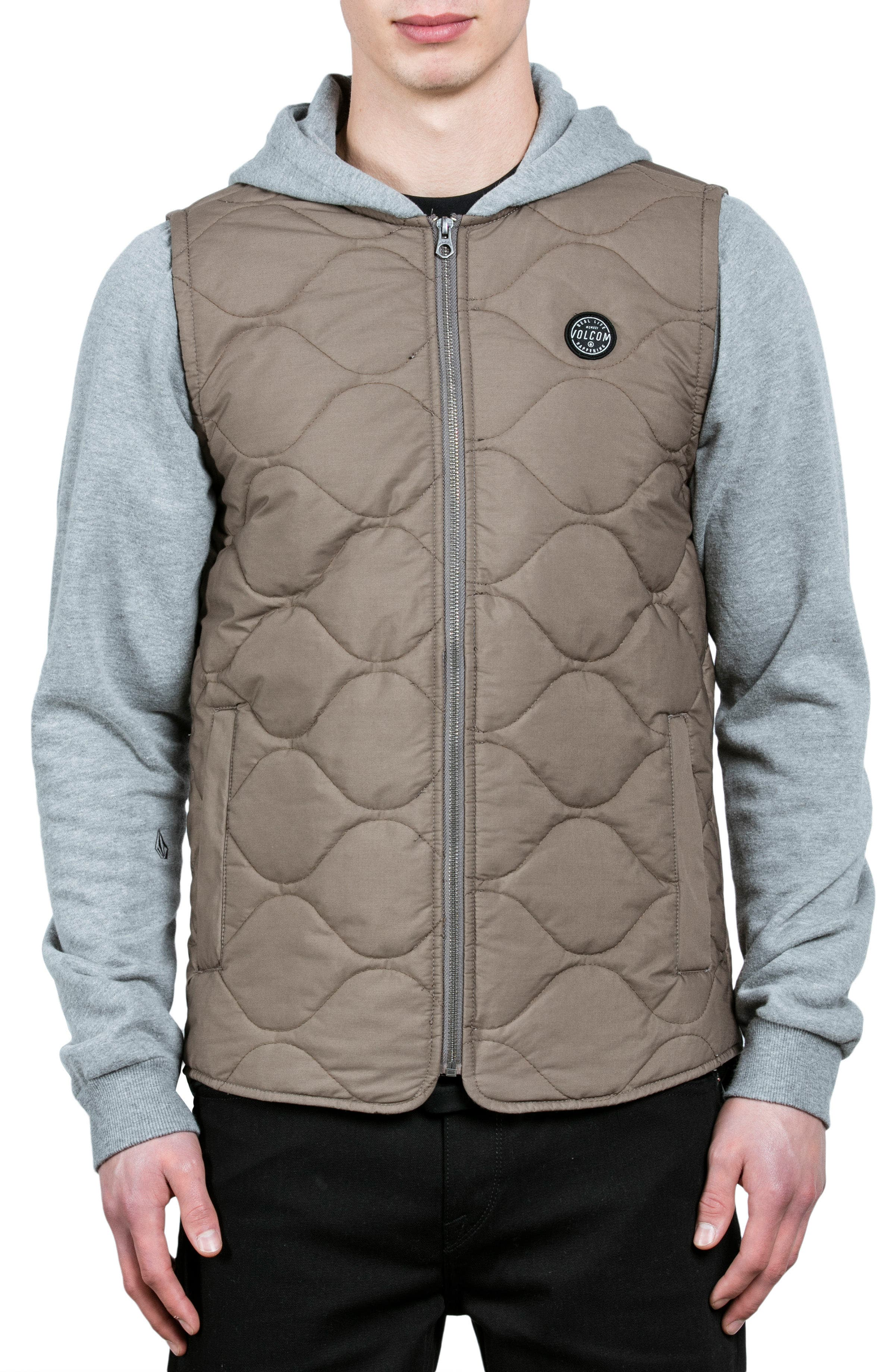 Buster Hooded Puffer Jacket,                         Main,                         color, Beige
