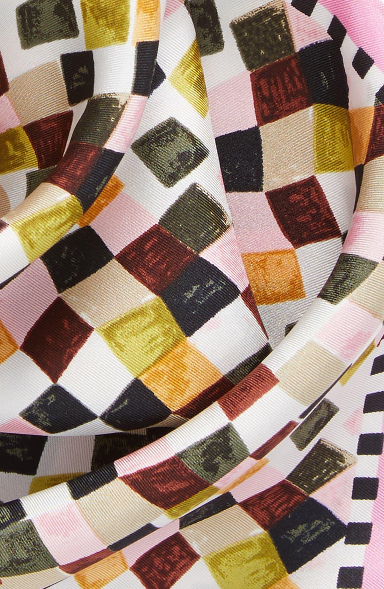 Alternate Image 4  - Tory Burch Prism Print Silk Neckerchief