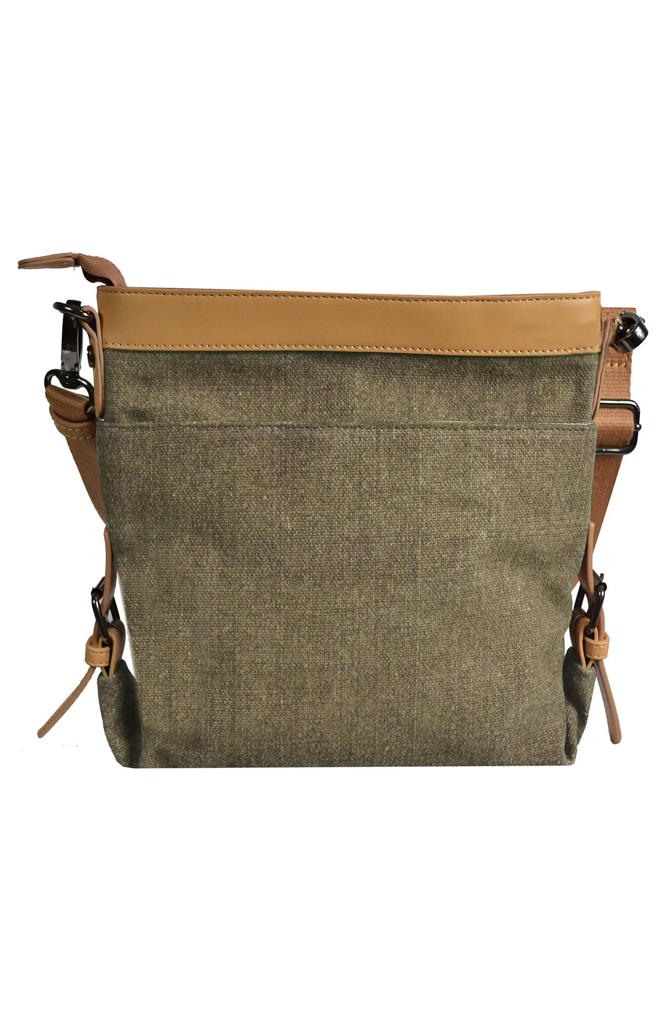 Luna Waxed Cotton Canvas Crossbody Bag,                             Alternate thumbnail 2, color,                             Fern