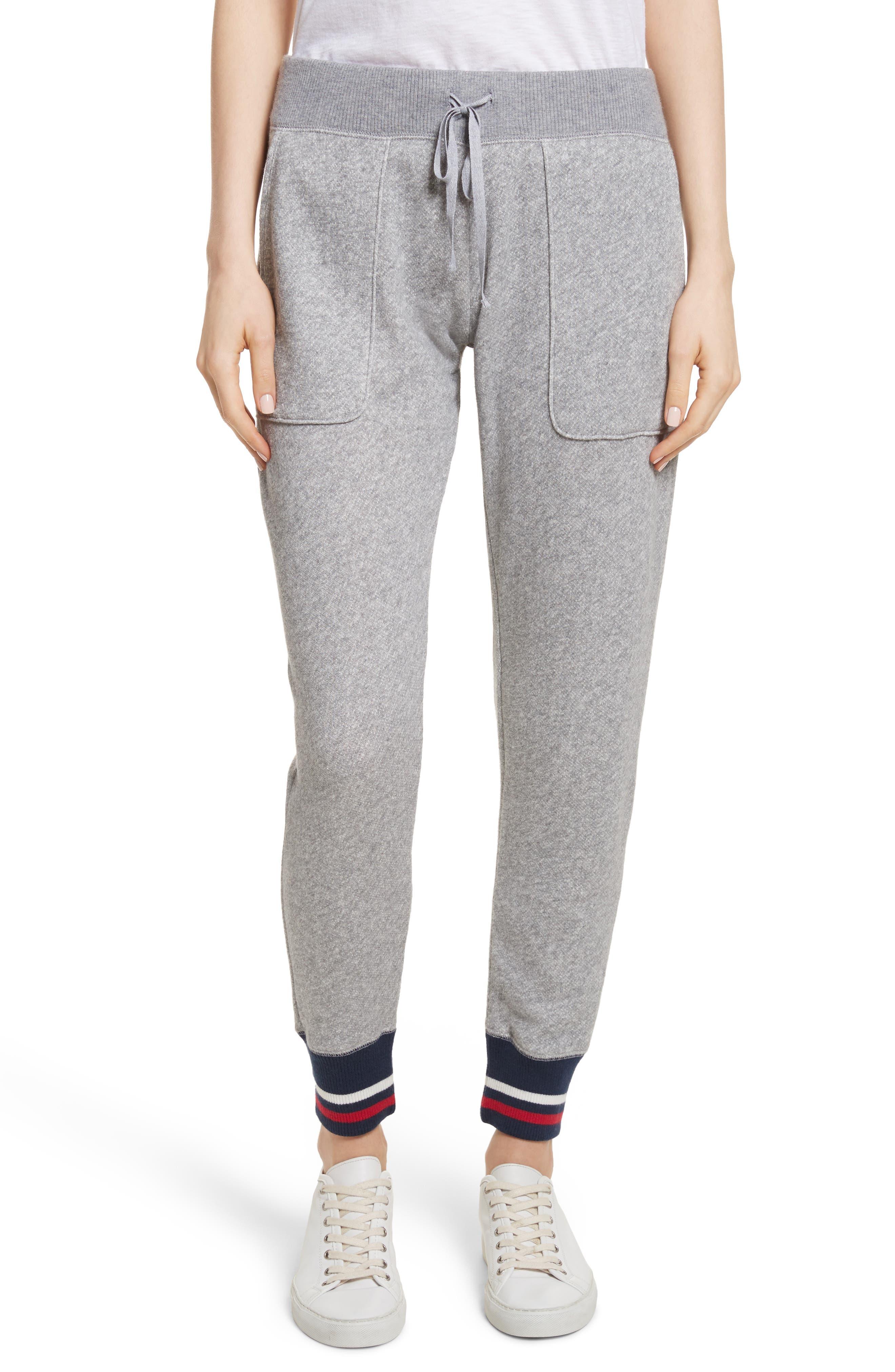 Denicah Cotton Sweatpants,                         Main,                         color, Heather Grey