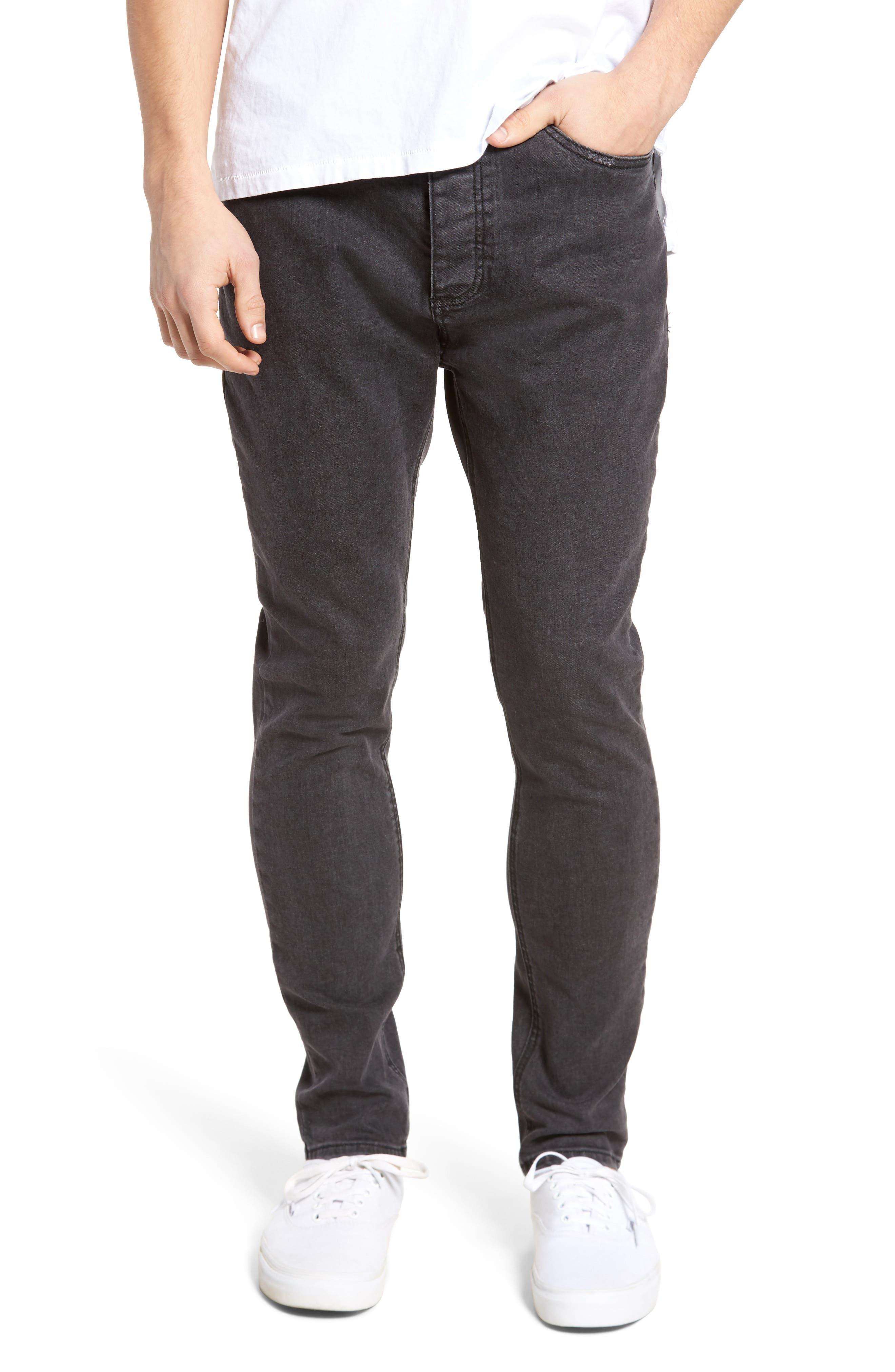 Joe Blow Destroyed Denim Jeans,                         Main,                         color, Black