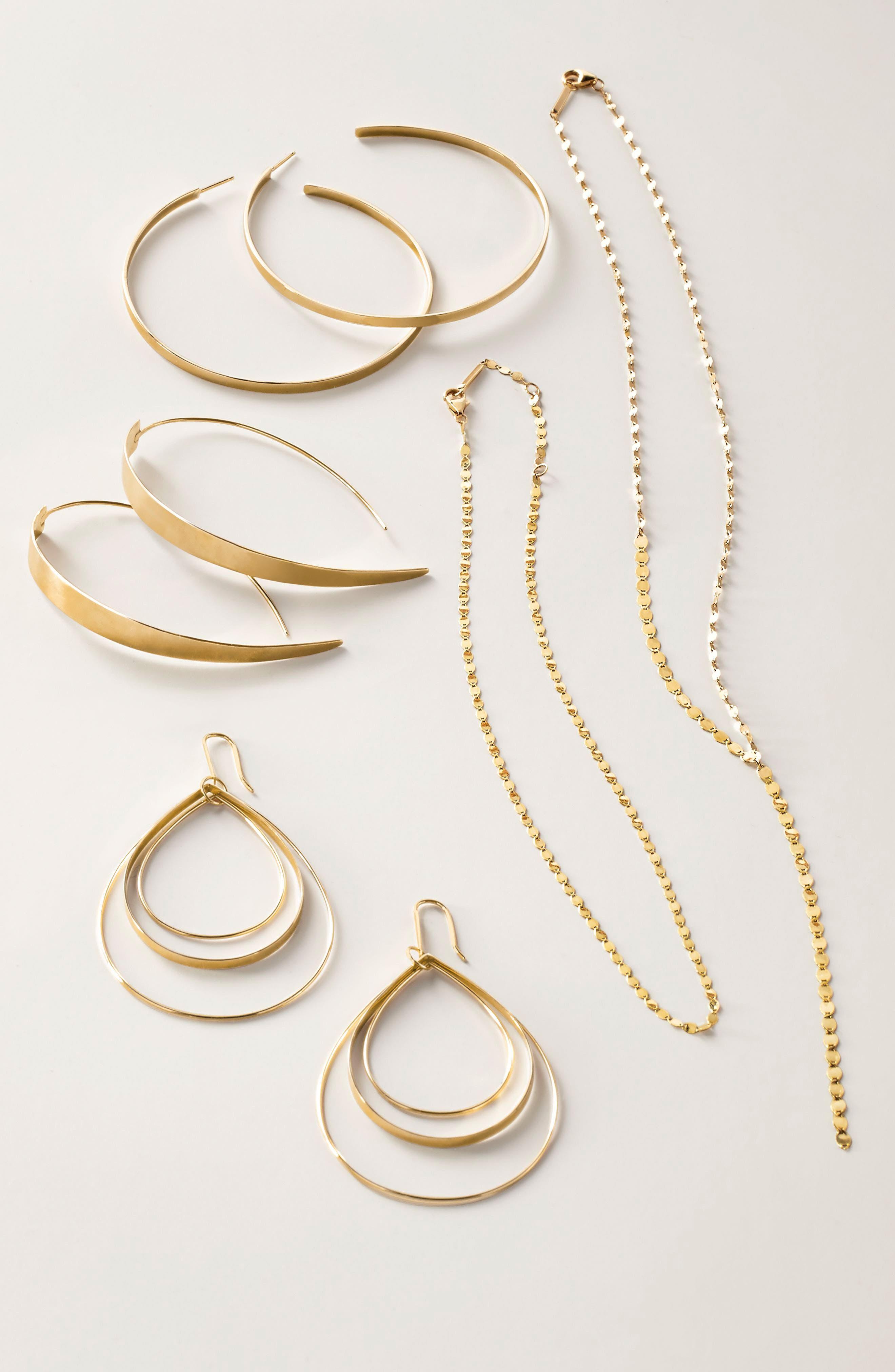 Alternate Image 2  - Lana Jewelry Large Vanity Threader Hoops