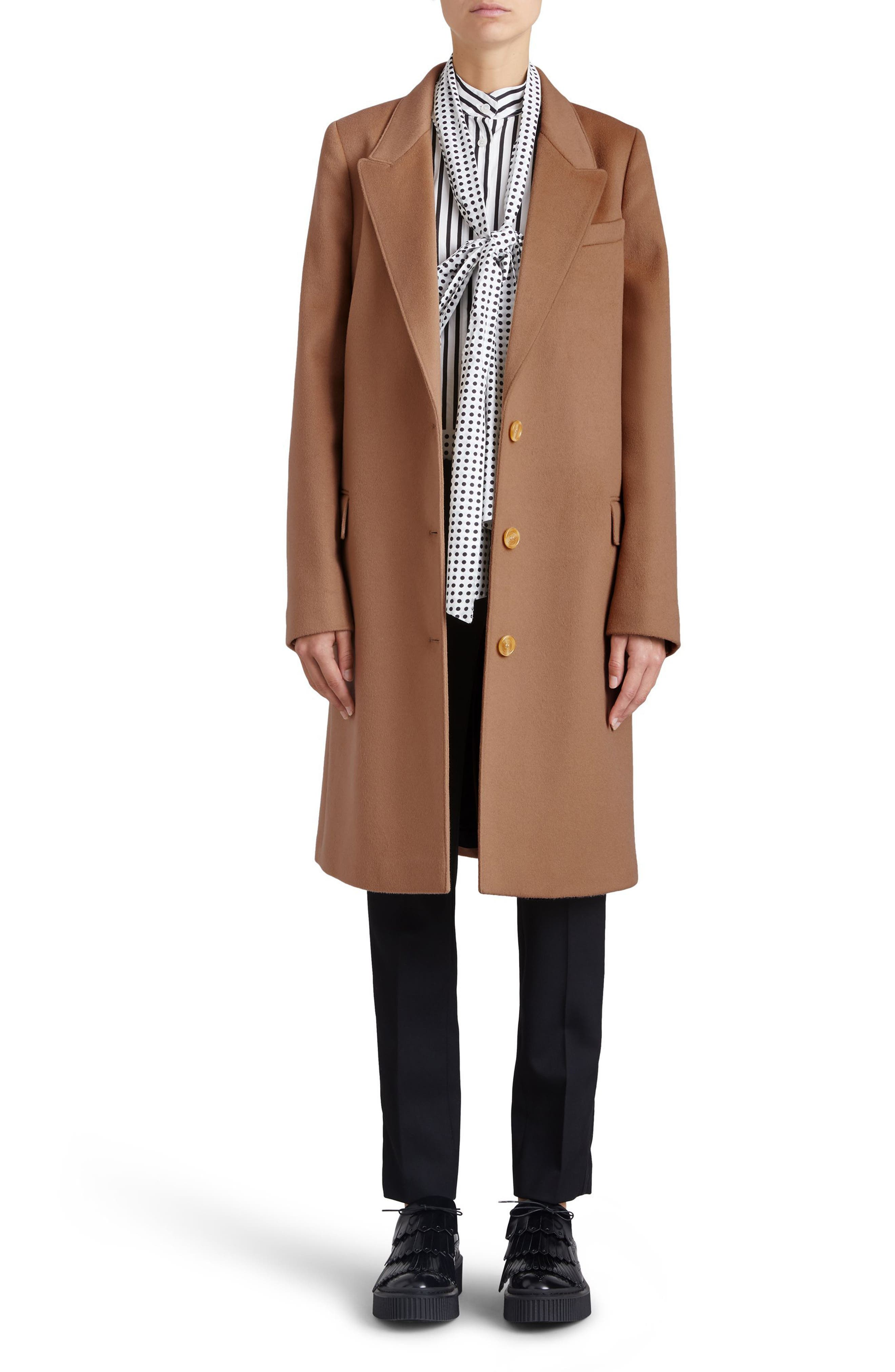 Fellhurst Wool & Cashmere Coat,                             Alternate thumbnail 6, color,                             Camel