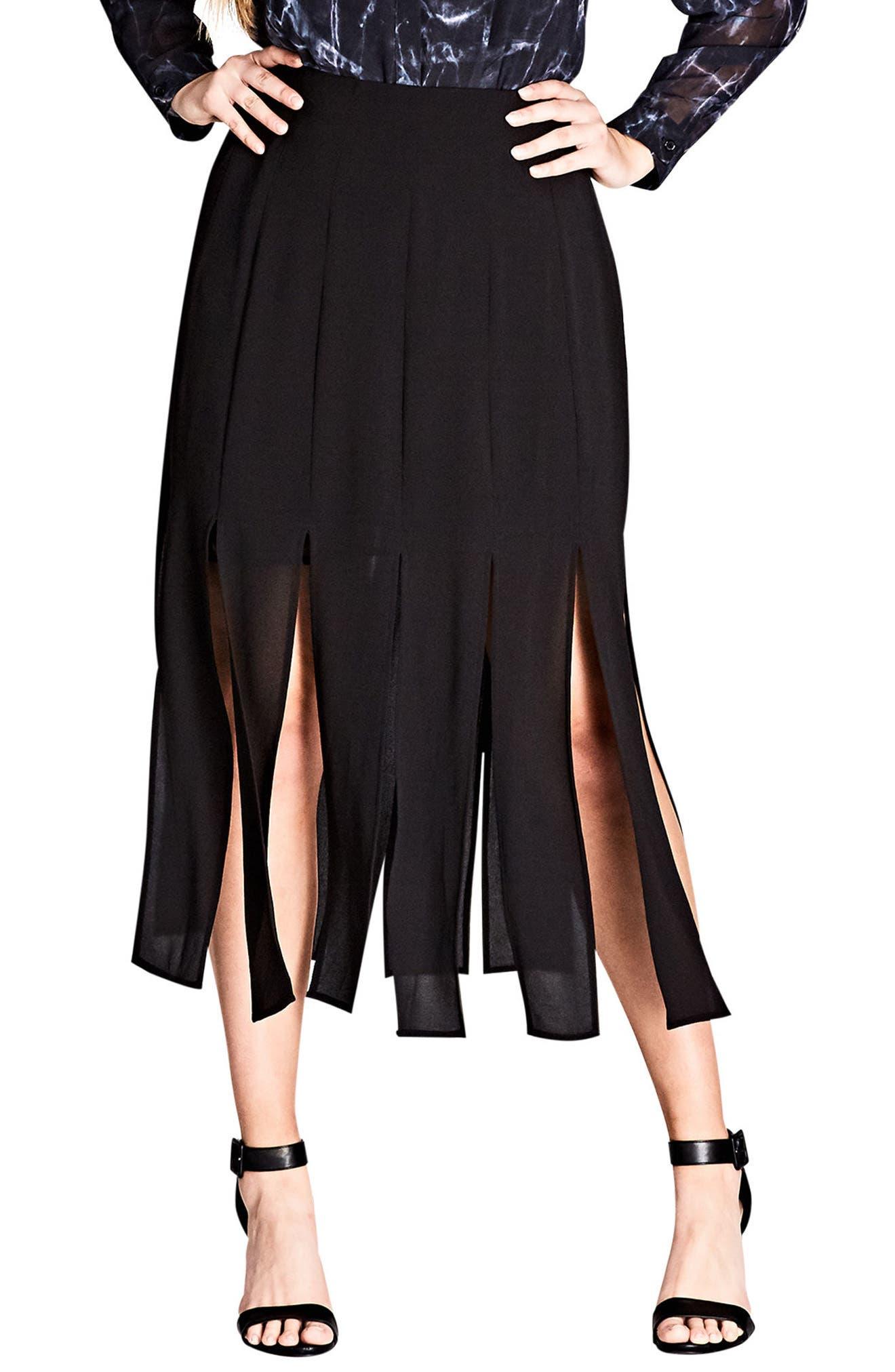 Stuck on You Pleated Maxi Skirt,                             Main thumbnail 1, color,                             Black