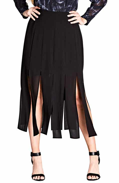 f03d47e79696e City Chic Stuck on You Pleated Maxi Skirt (Plus Size)