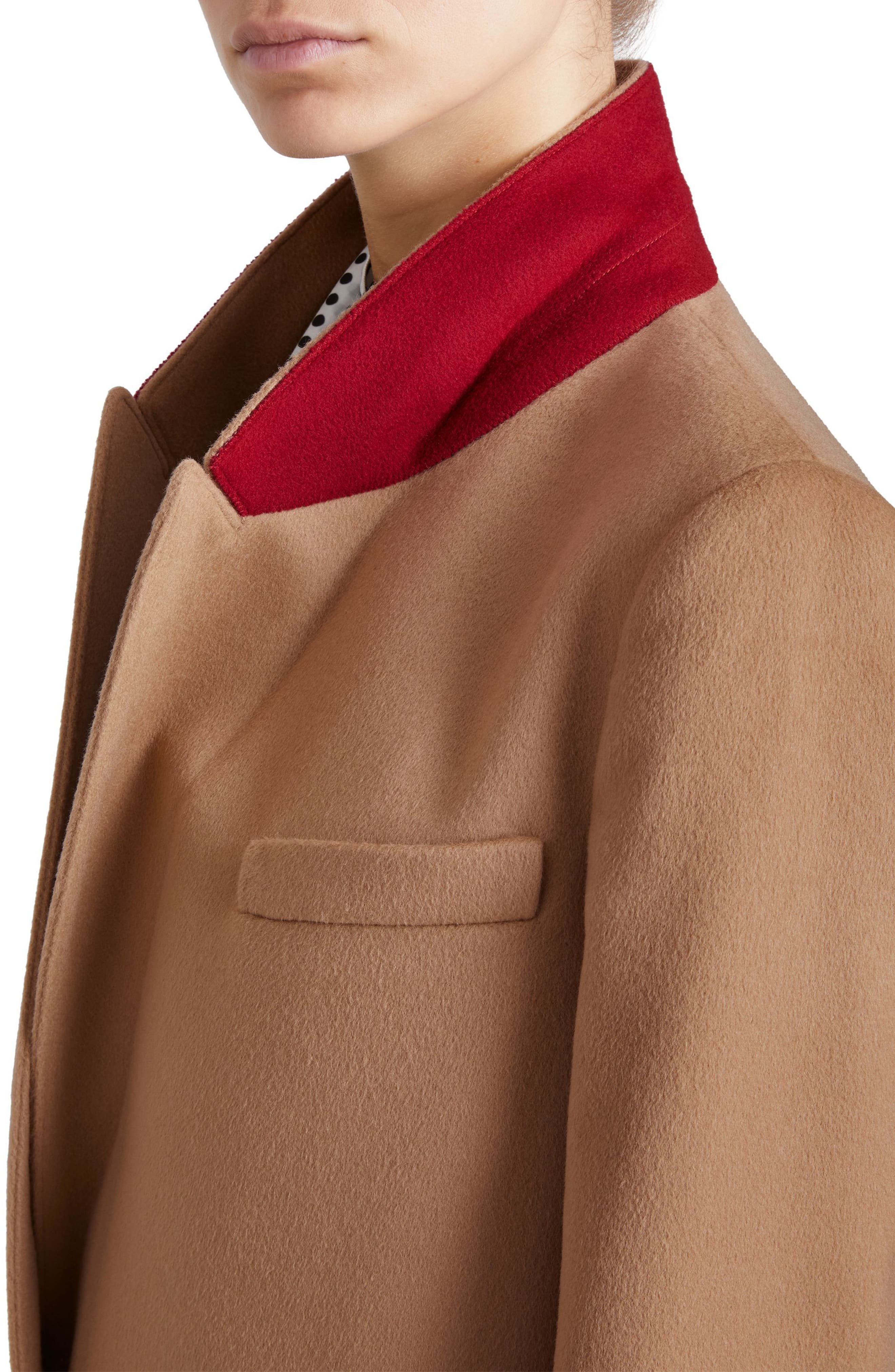 Fellhurst Wool & Cashmere Coat,                             Alternate thumbnail 5, color,                             Camel