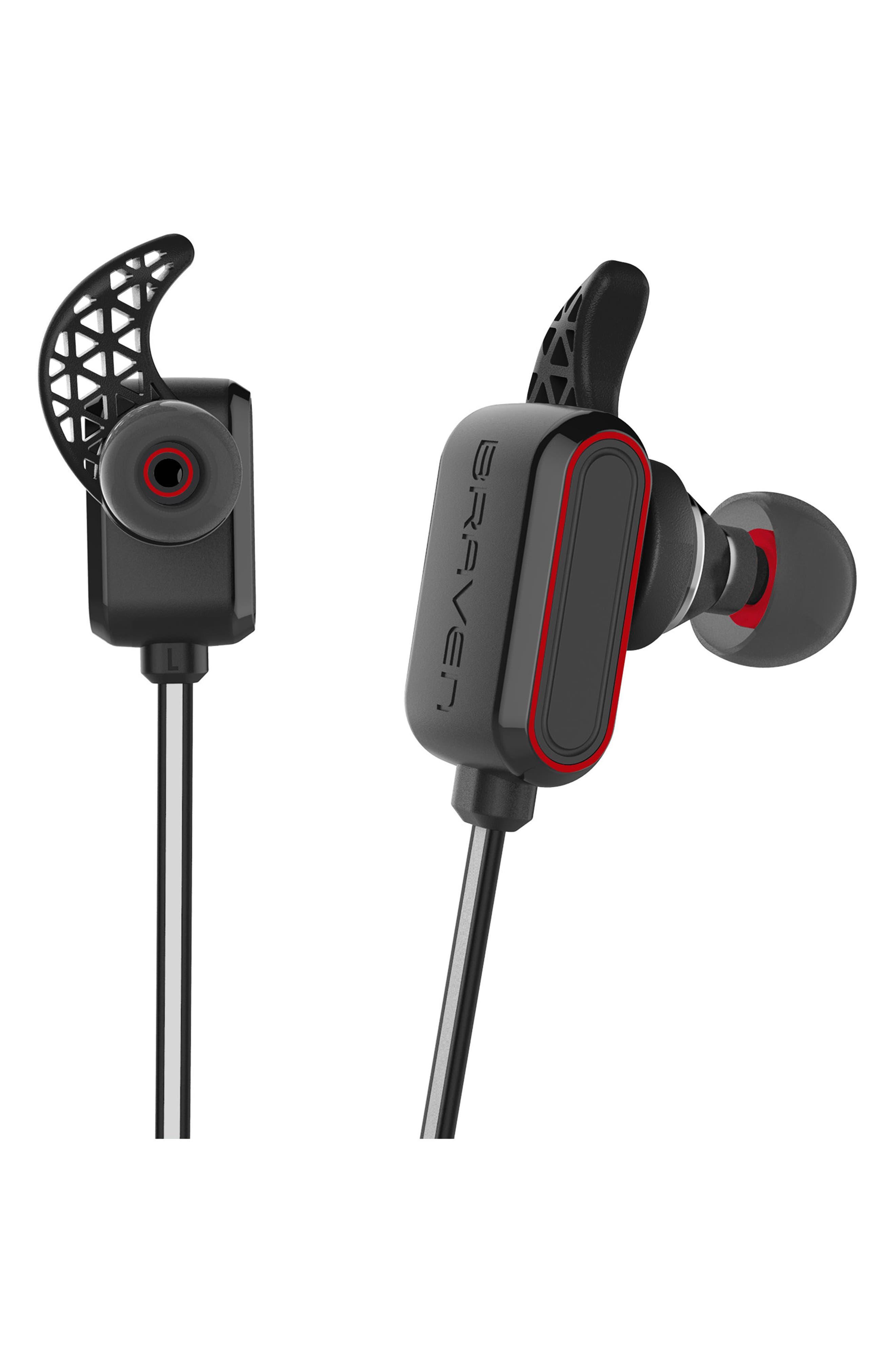 Flye Sport Reflect Bluetooth In-Ear Headphones & Power Bank,                             Alternate thumbnail 2, color,                             Grey/ Red