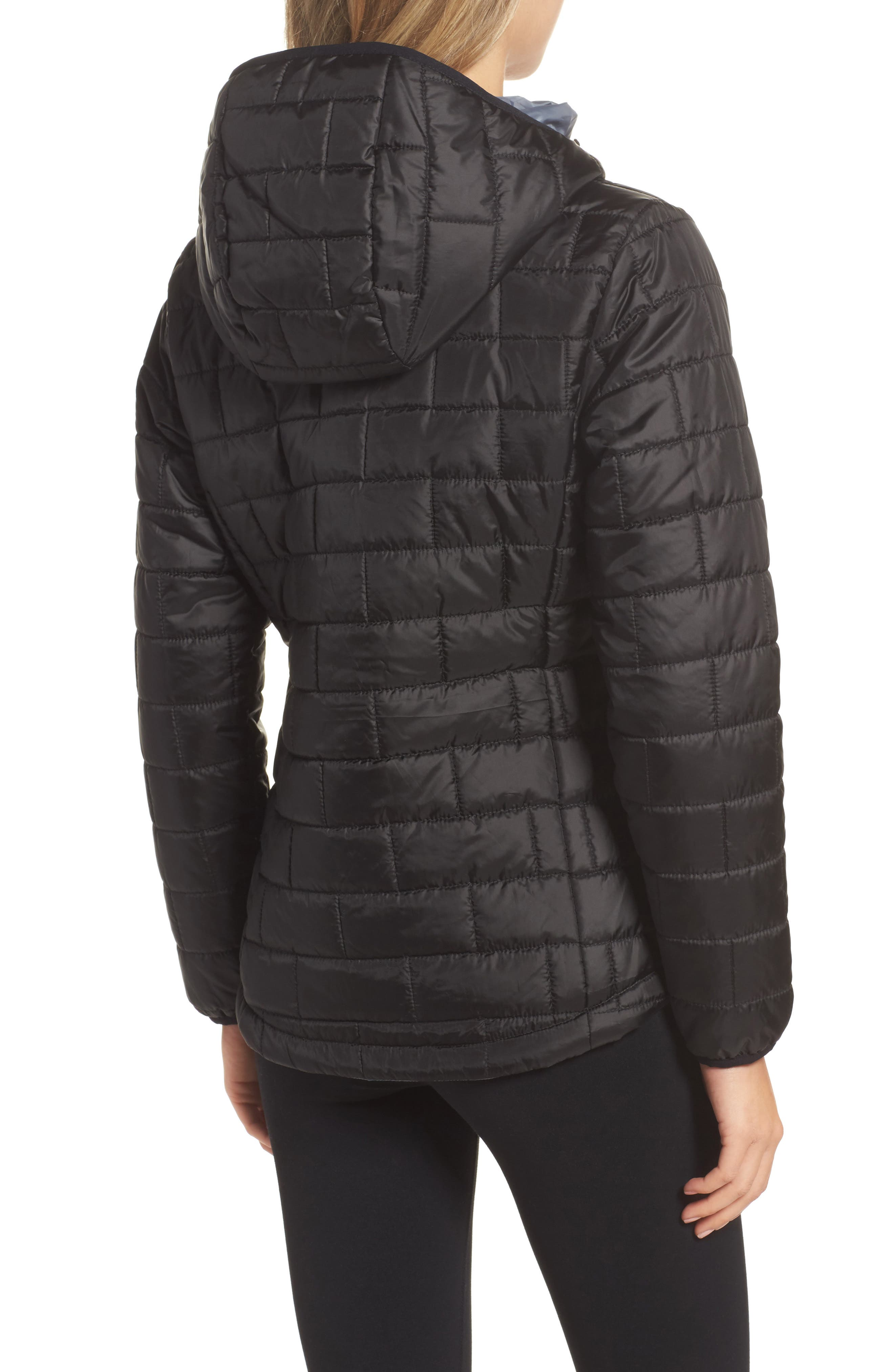 Highland Reversible Water-Resistant & Windproof Quilted Puffer Jacket,                             Alternate thumbnail 2, color,                             Black/ Gunmetal