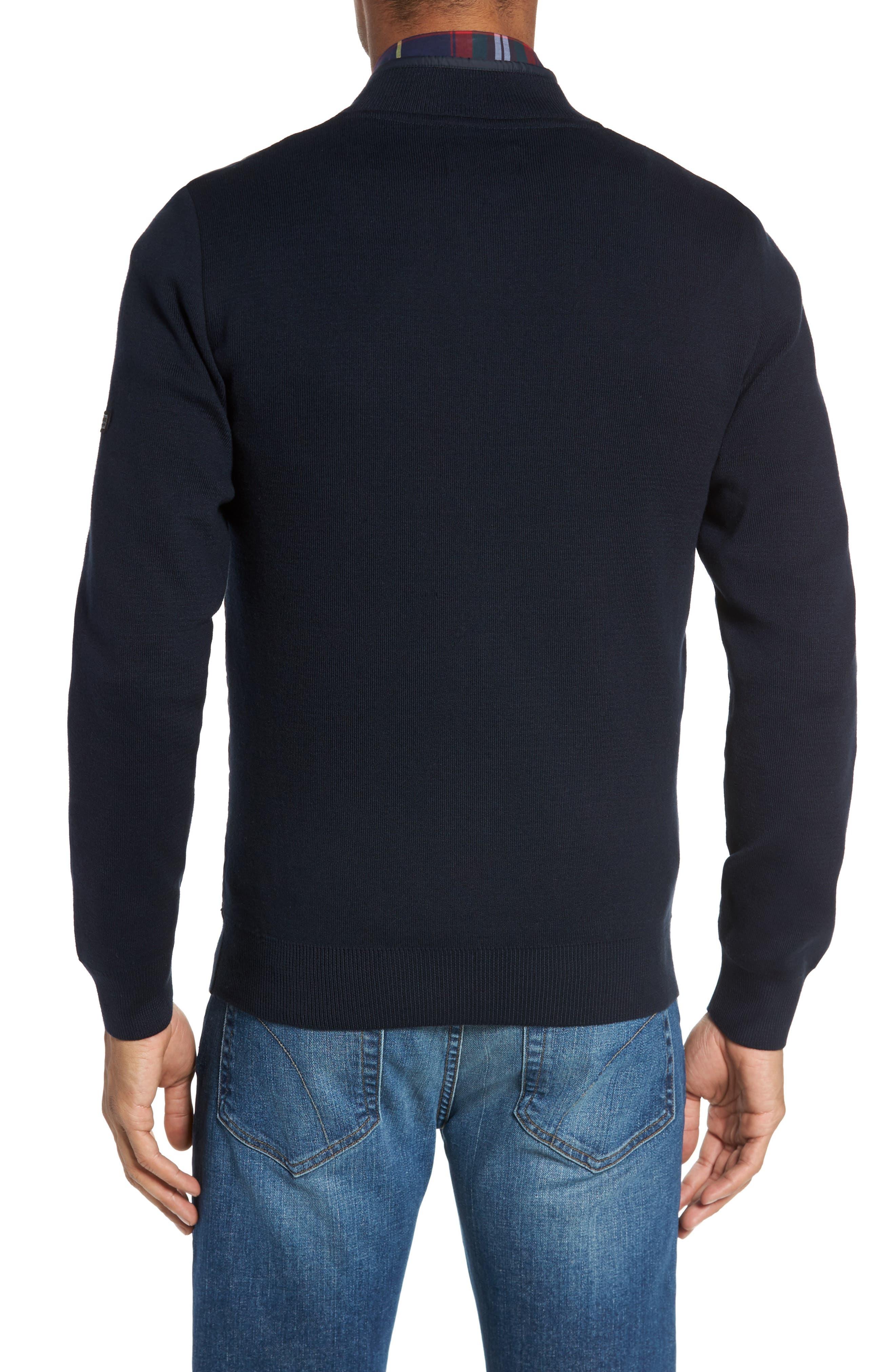 BI Quilt Front Knit Track Jacket,                             Alternate thumbnail 2, color,                             Navy