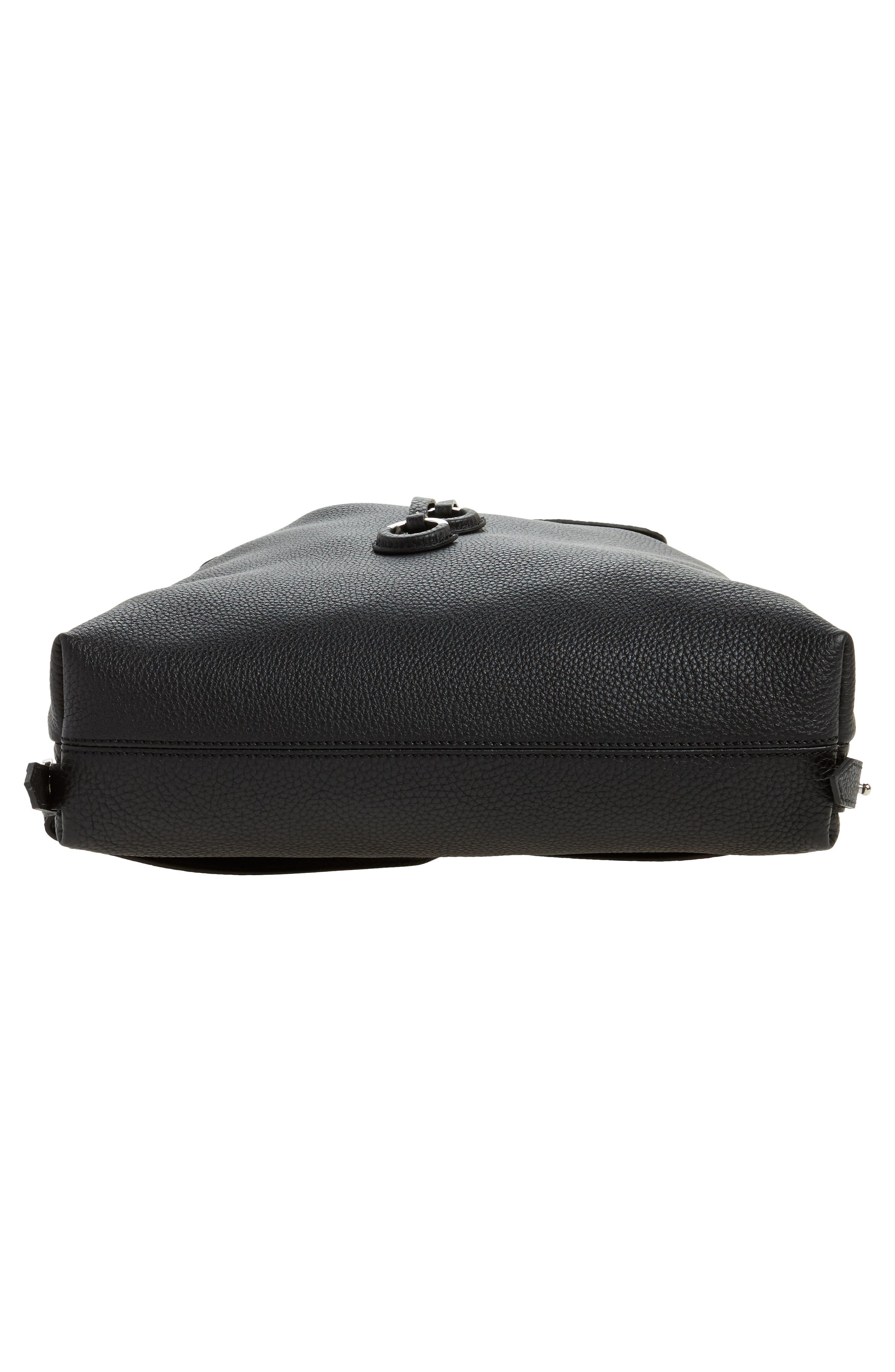 Carmen Cachemire Leather Backpack,                             Alternate thumbnail 6, color,                             Black