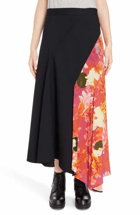 Y's by Yohji Yamamoto Print Skirt