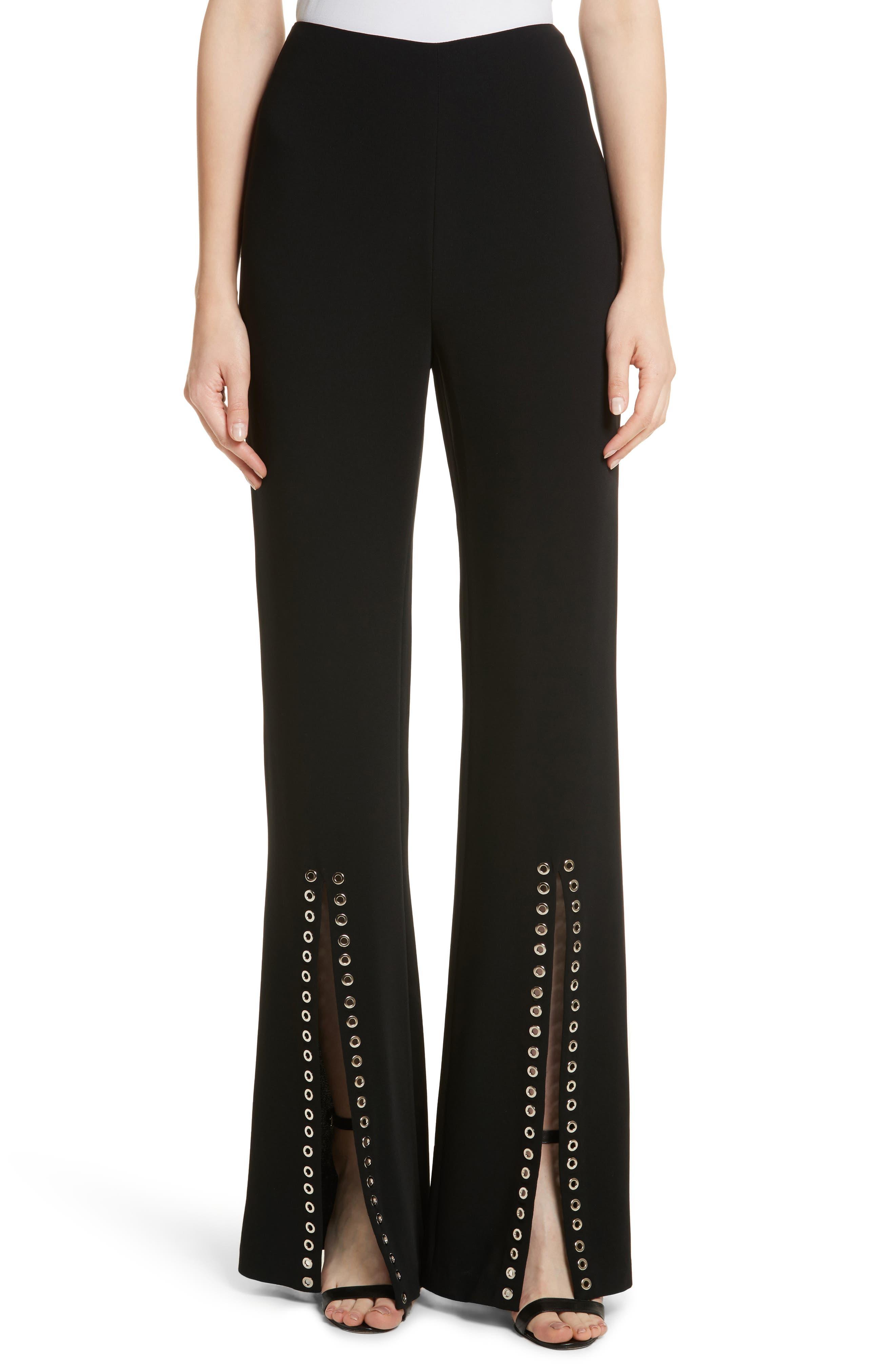 Viera Split Hem Pant,                         Main,                         color, Black