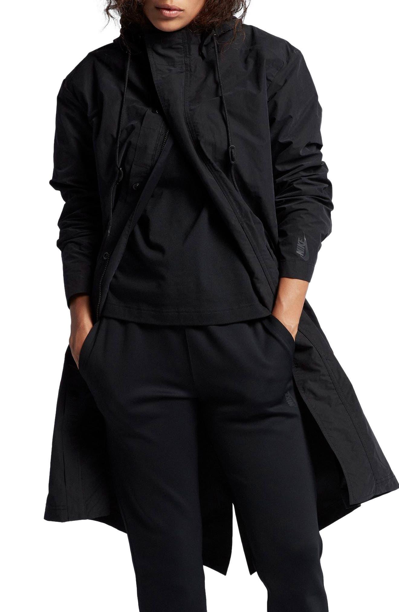 NikeLab Essentials Women's Parka,                         Main,                         color, Black/ Black