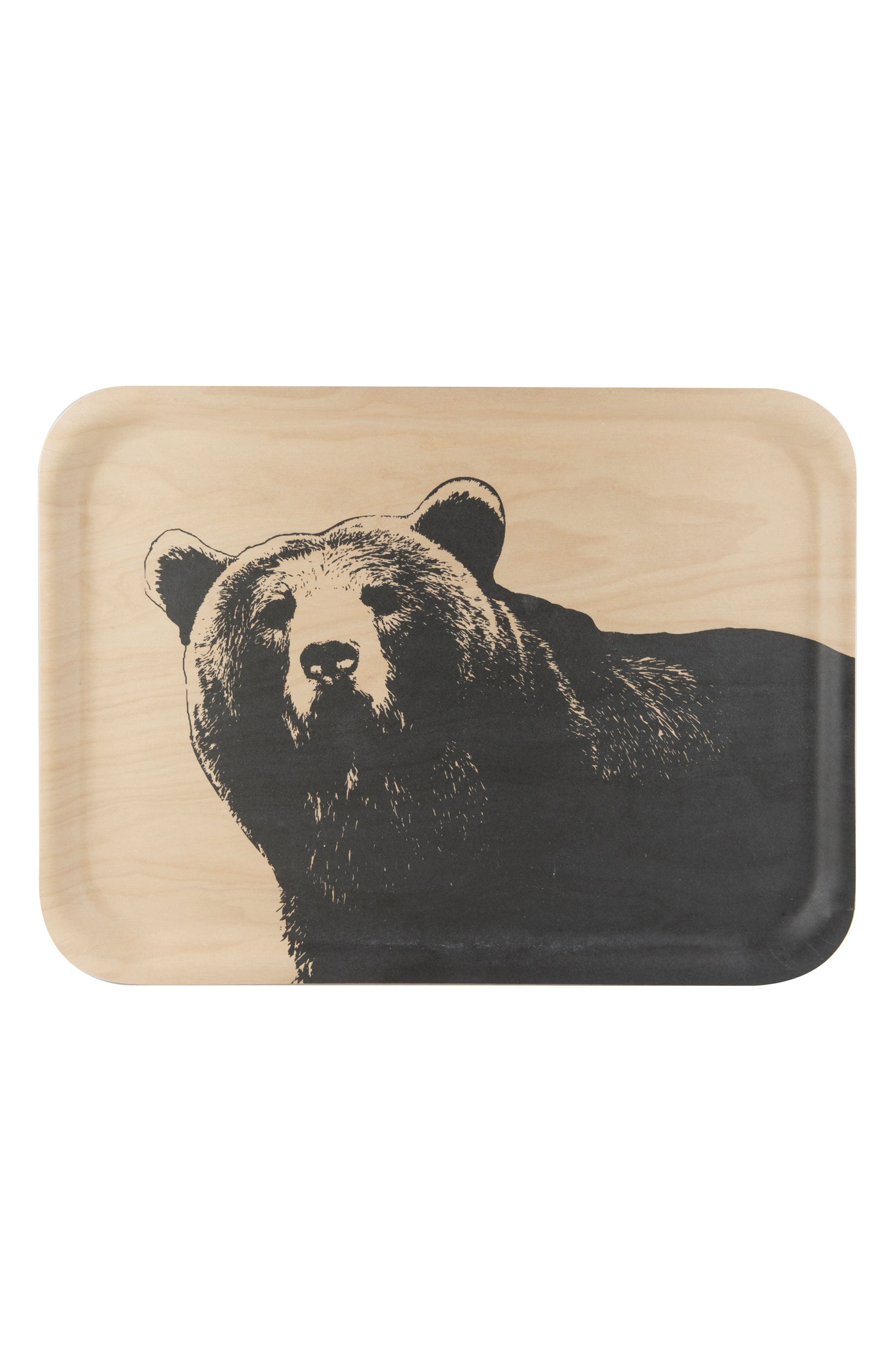 Alternate Image 1 Selected - Muurla Bear Birch & Melamine Serving Tray