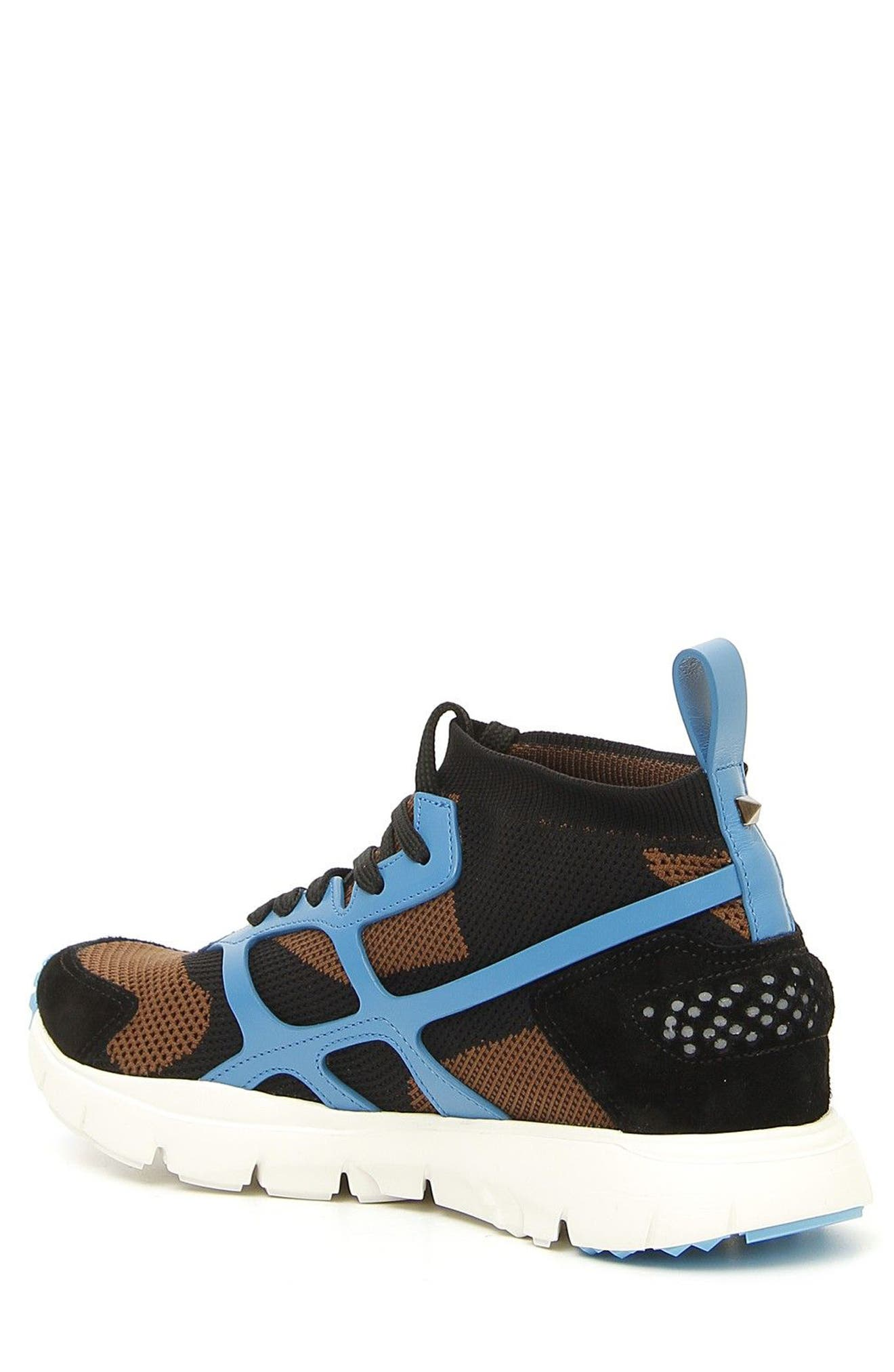 Sound High Sneaker,                             Alternate thumbnail 2, color,                             Army Green/ Nero/ Pool Blue