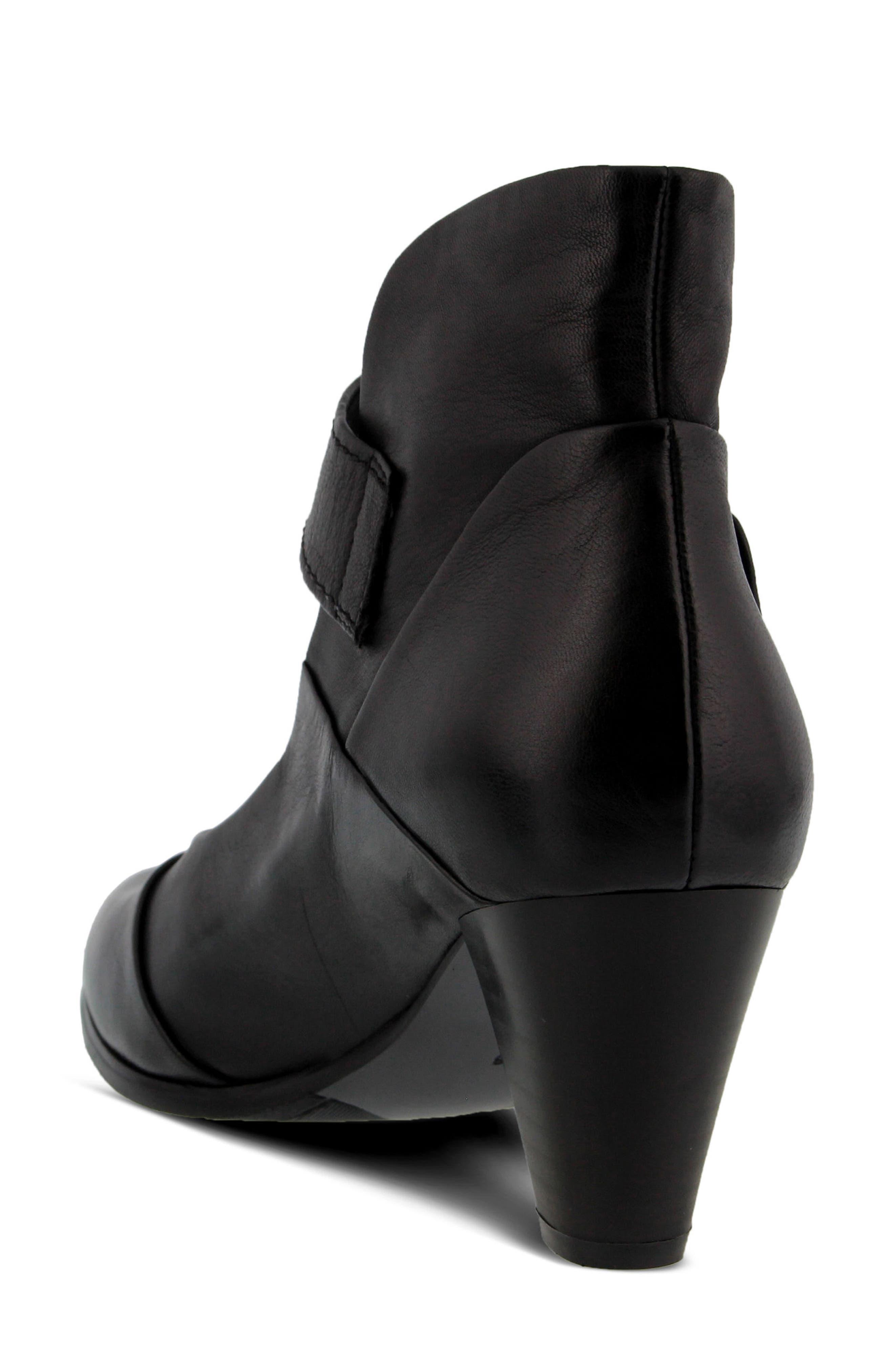 Chapeco Patchwork Ankle Strap Pump,                             Alternate thumbnail 2, color,                             Black Leather