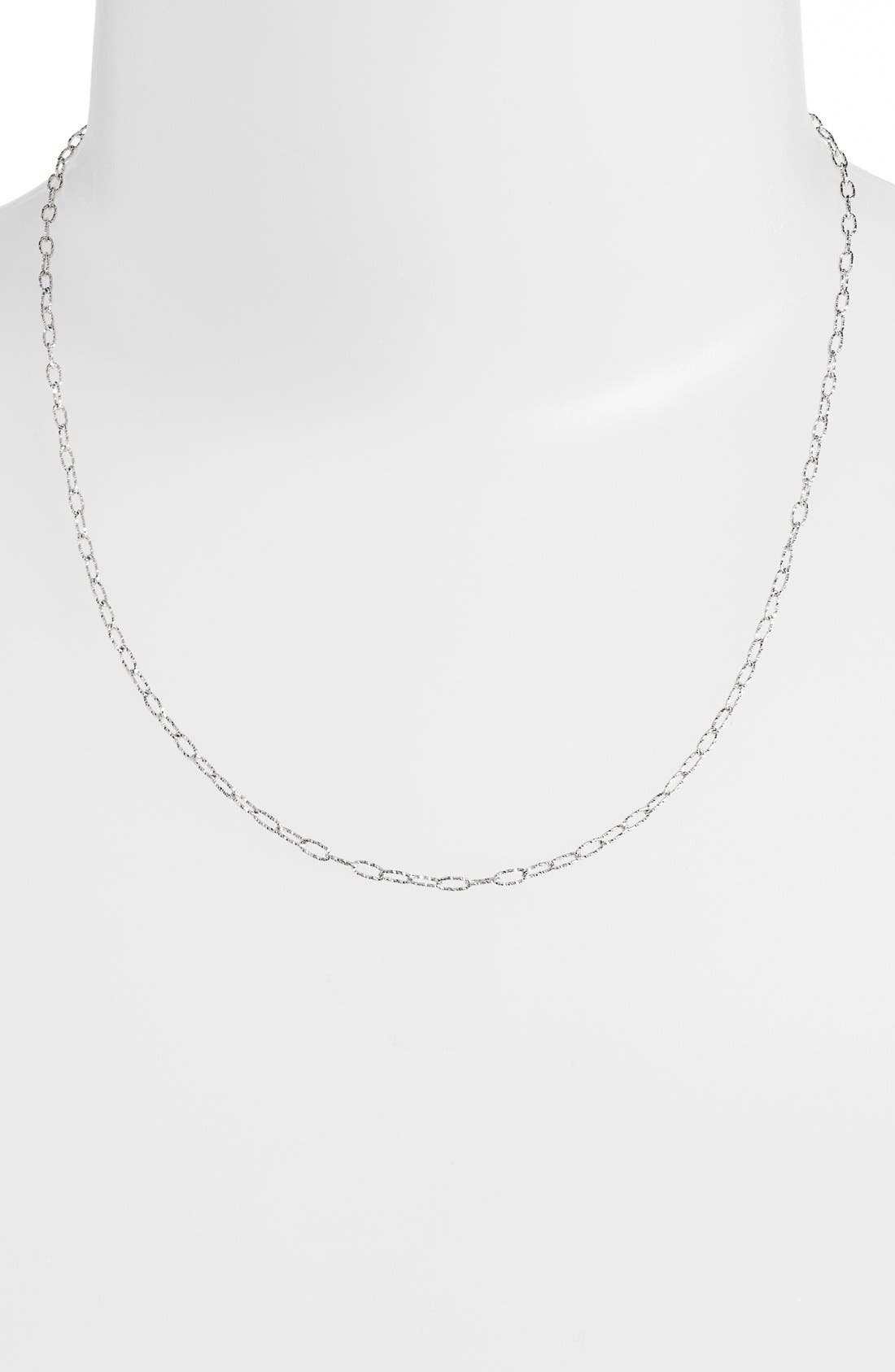 Textured Chain Necklace,                         Main,                         color, White Gold