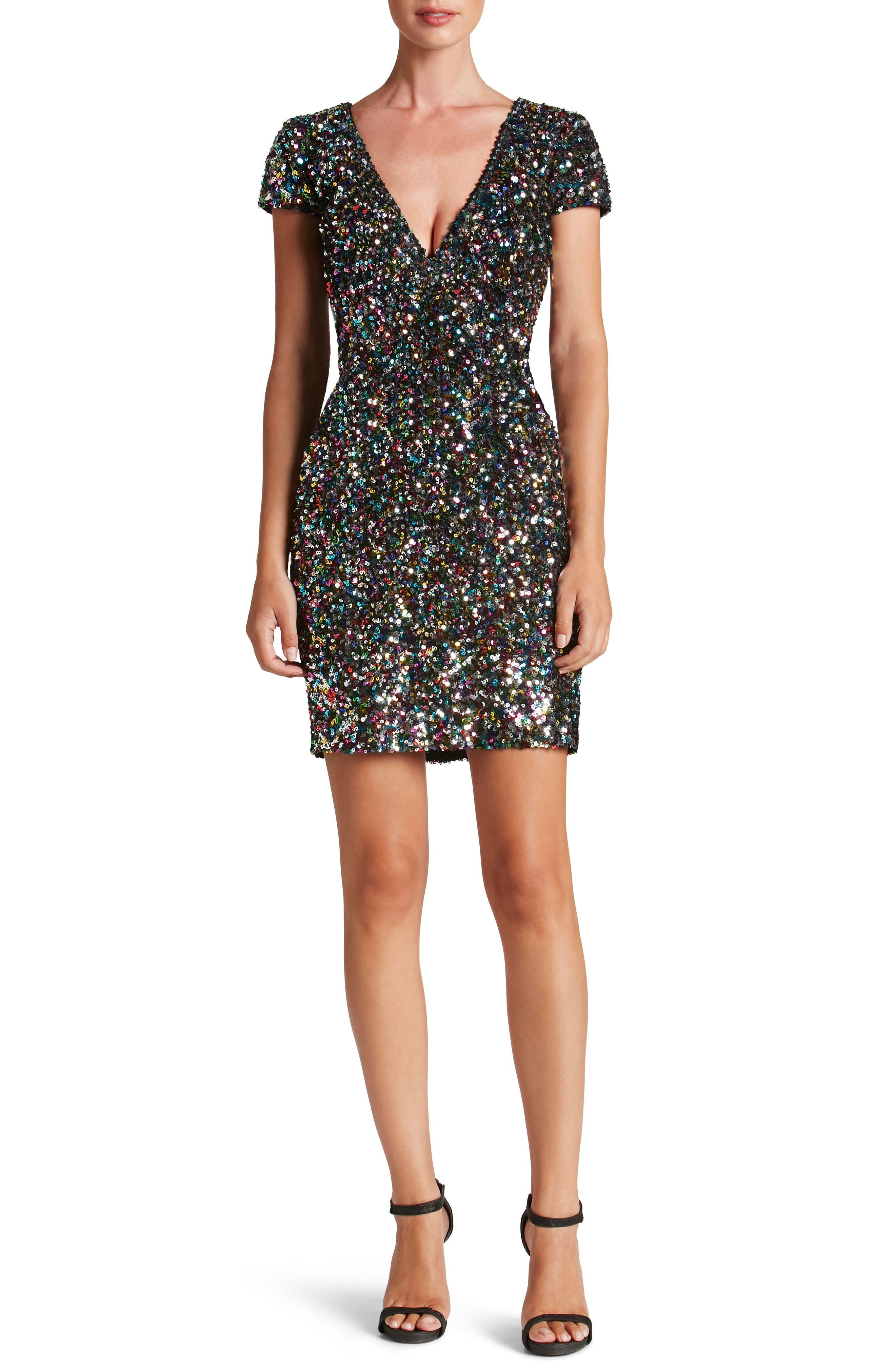 Zoe Sequin Minidress,                         Main,                         color, Confetti