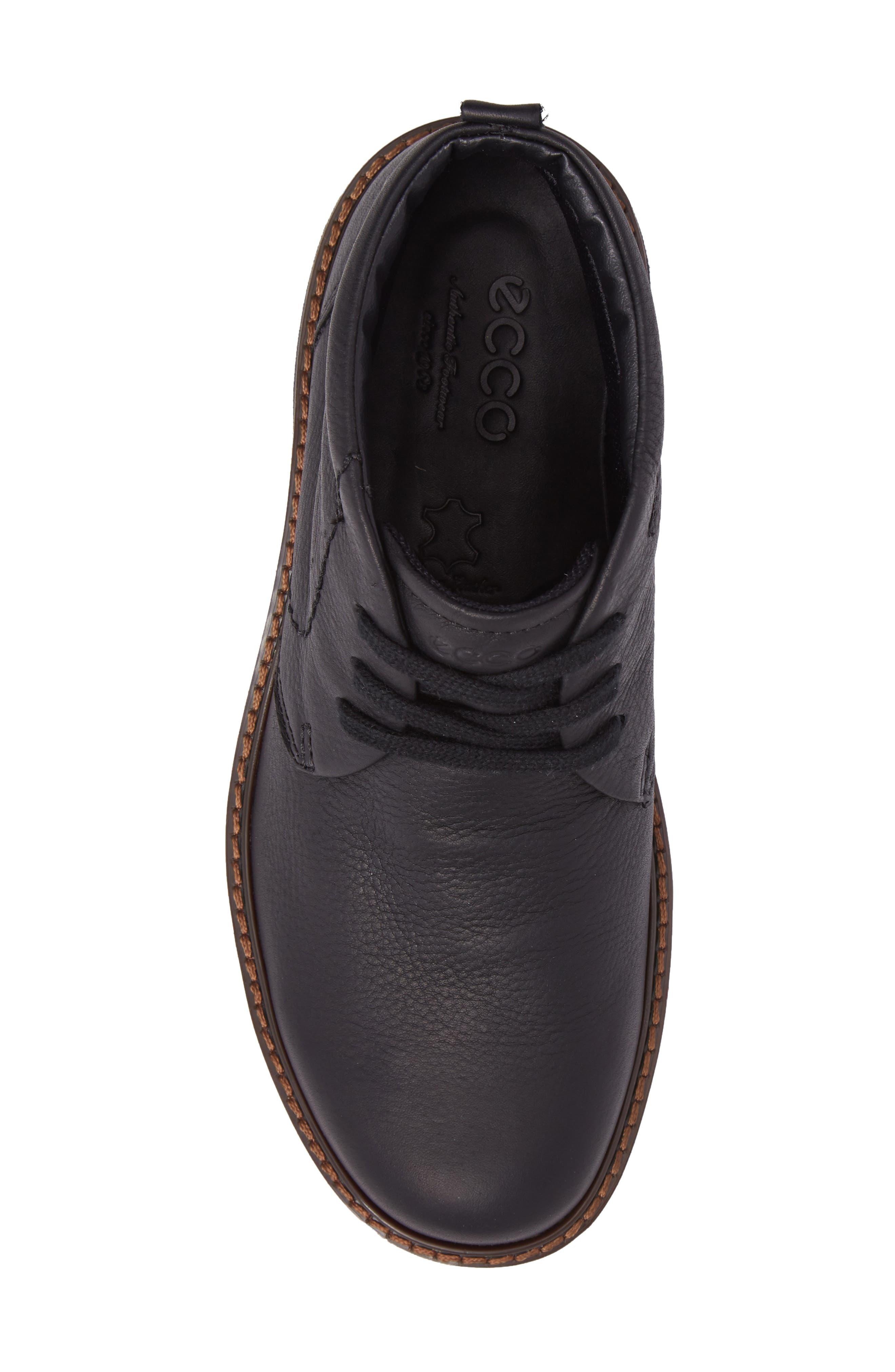 Turn Gore-Tex<sup>®</sup> Waterproof Chukka Boot,                             Alternate thumbnail 5, color,                             Black Nubuck