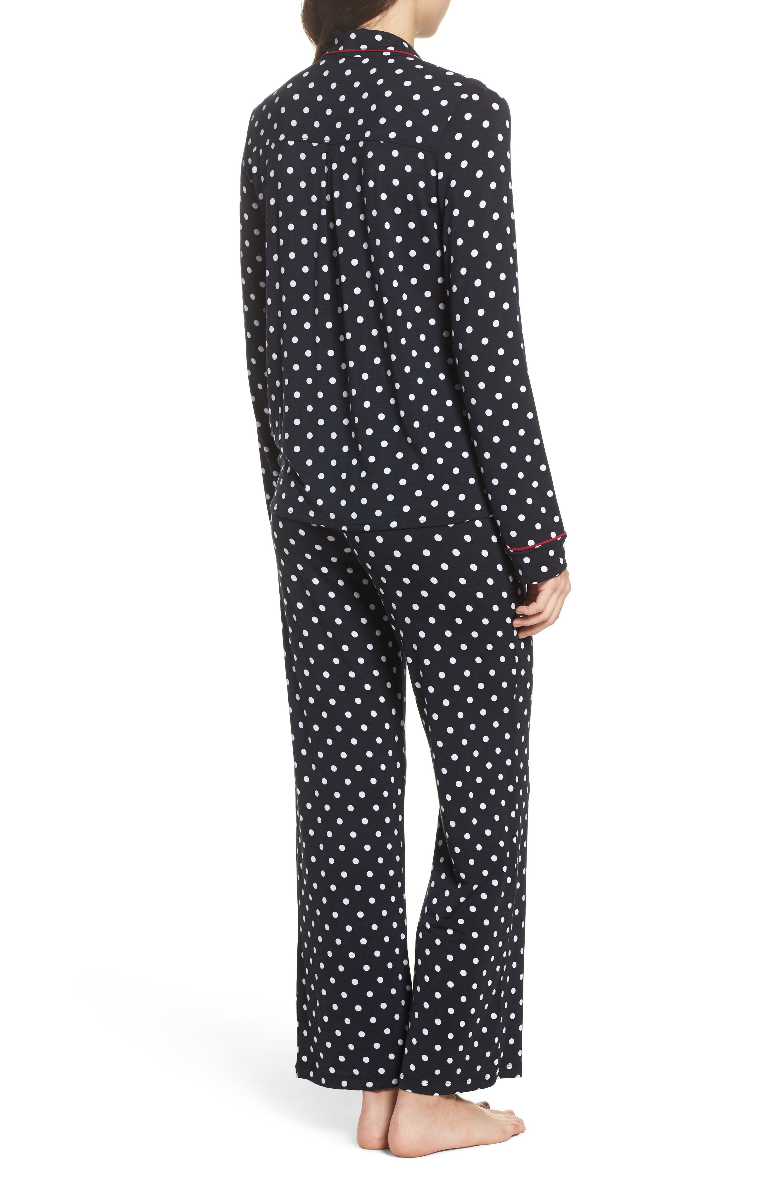 Stretch Modal Pajamas & Eye Mask,                             Alternate thumbnail 2, color,                             Black